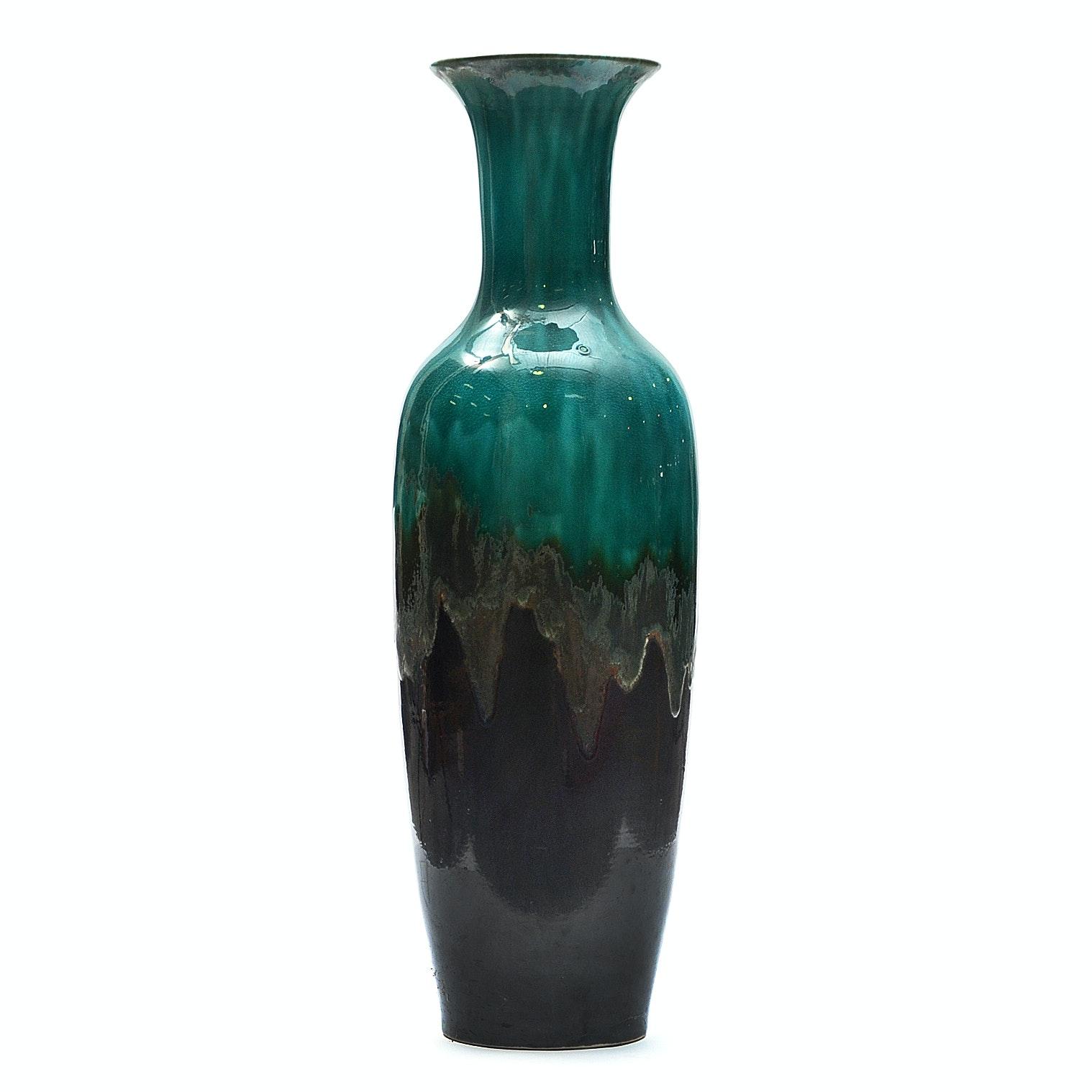 Drip Glaze Ceramic Floor Vase