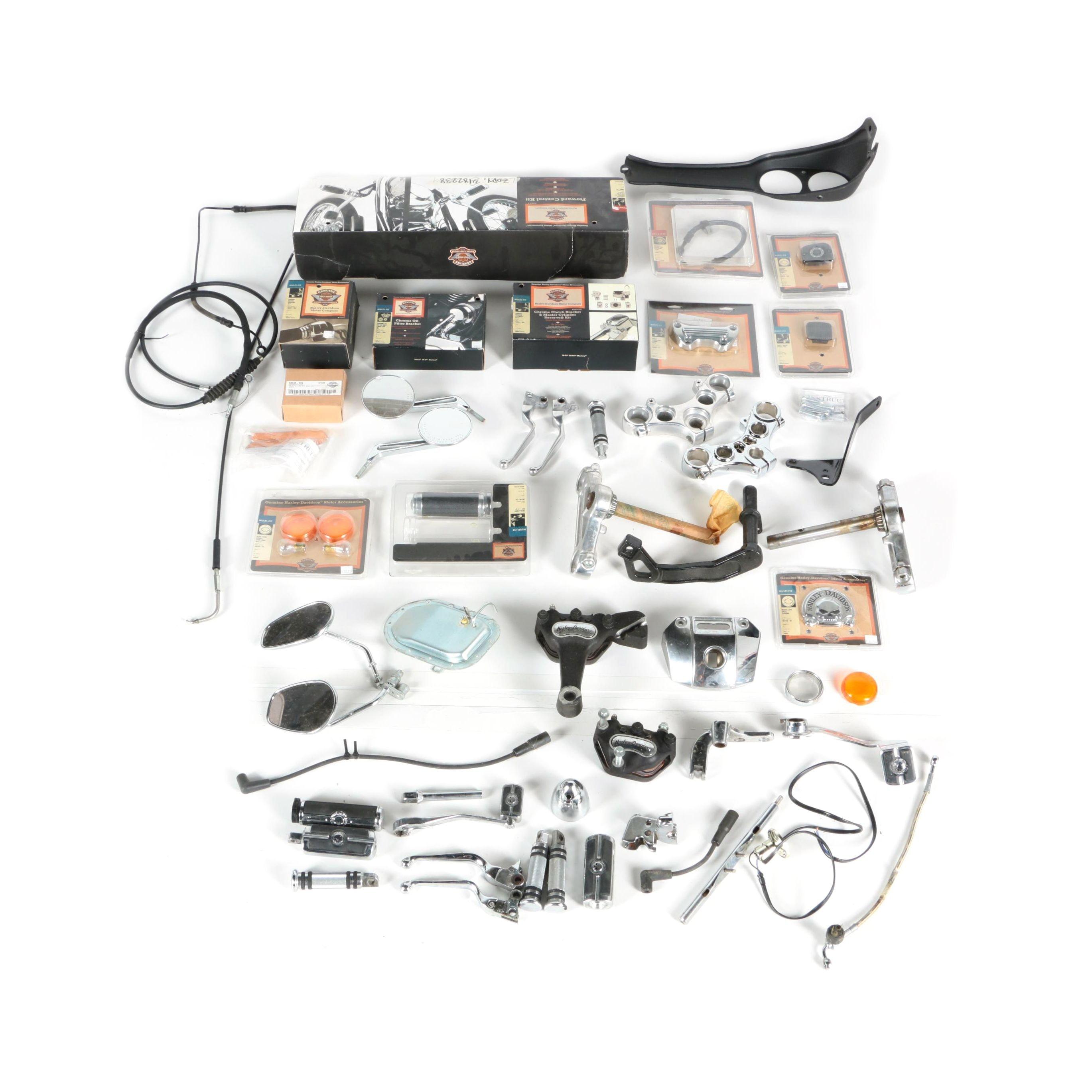 Assortment of Harley Davidson Parts