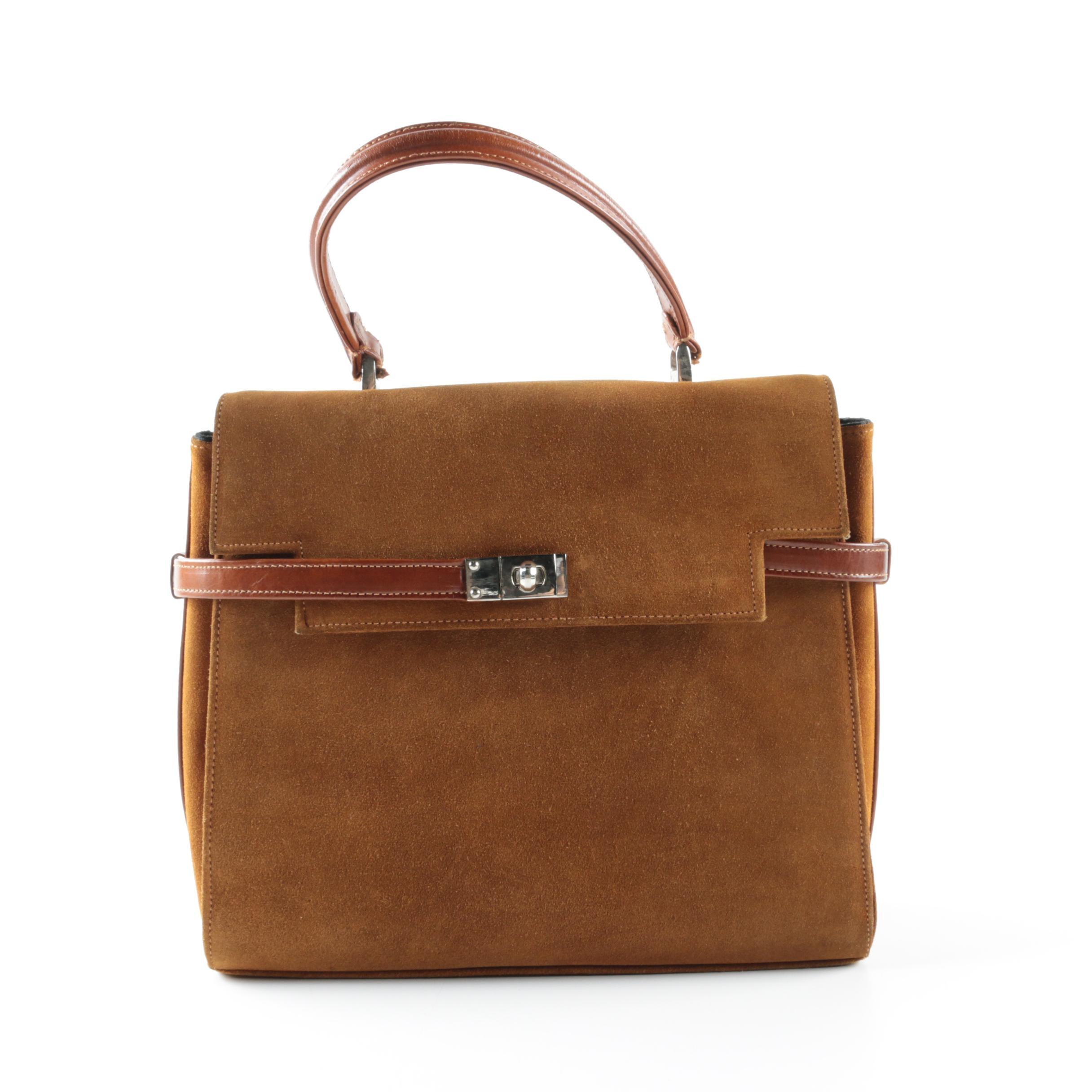 Vintage Suede and Leather Handbag