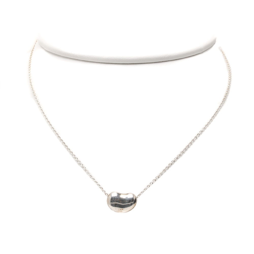 Elsa Peretti for Tiffany & Co. Sterling Silver Bean Pendant Necklace