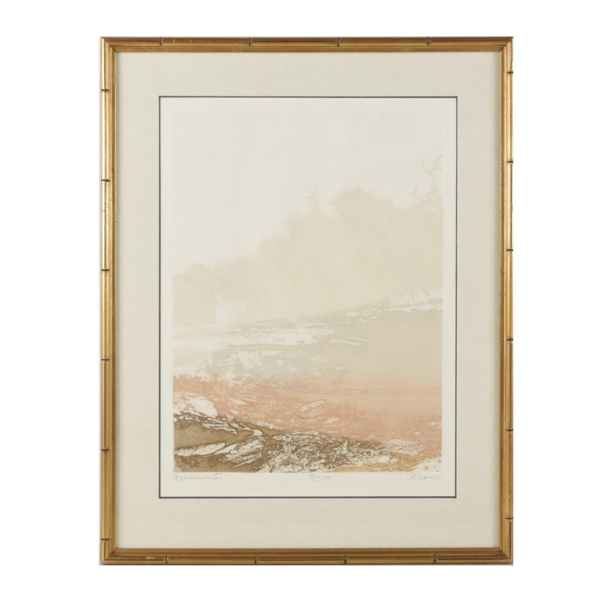 "Paula Crane Etching à la Poupée ""Hokkaido II"""