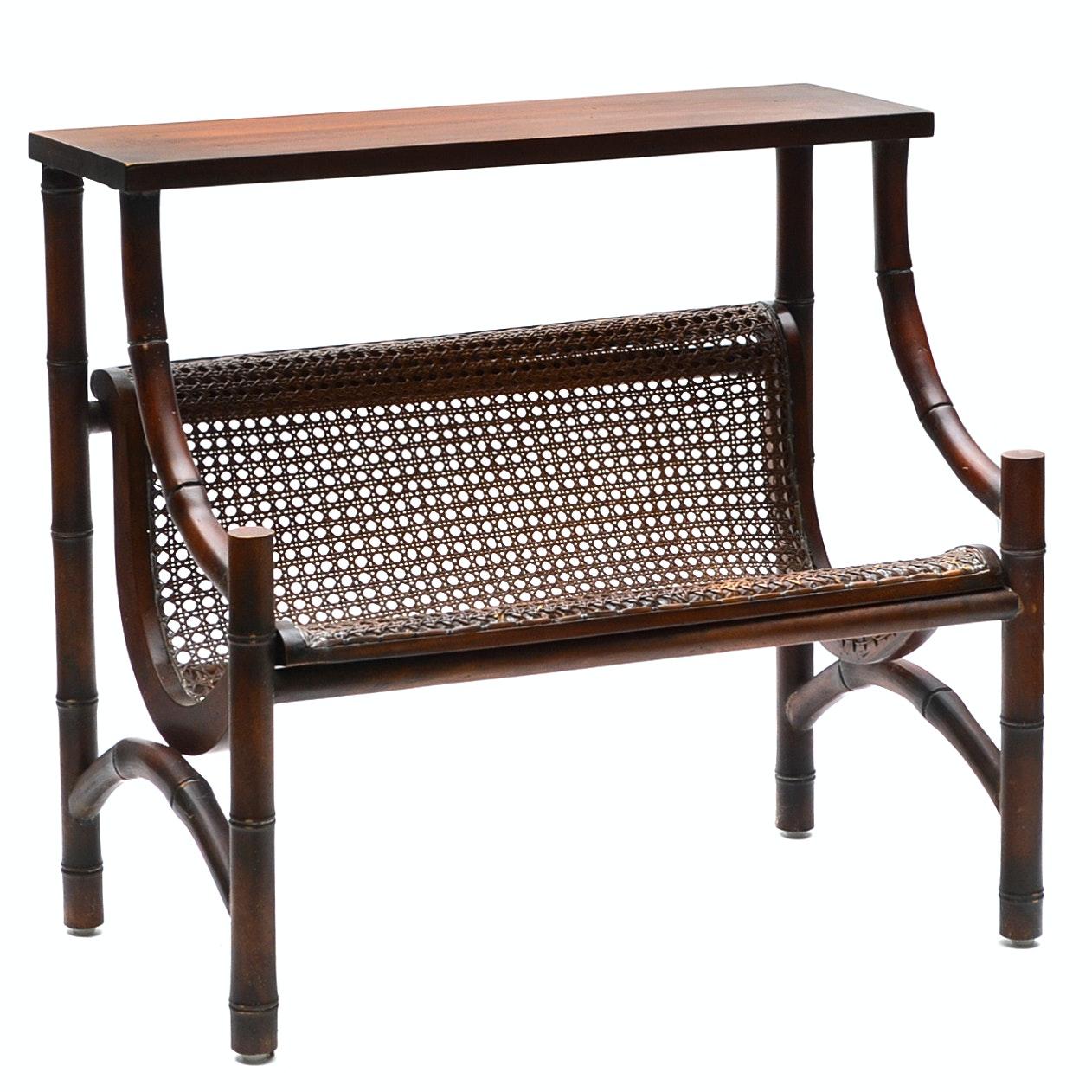 Bamboo Style Mahogany Table