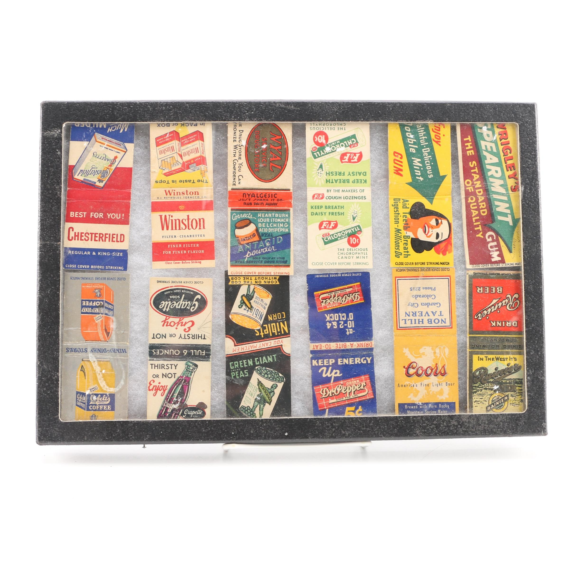 Advertising Matchbooks In Removable Lid Display Box