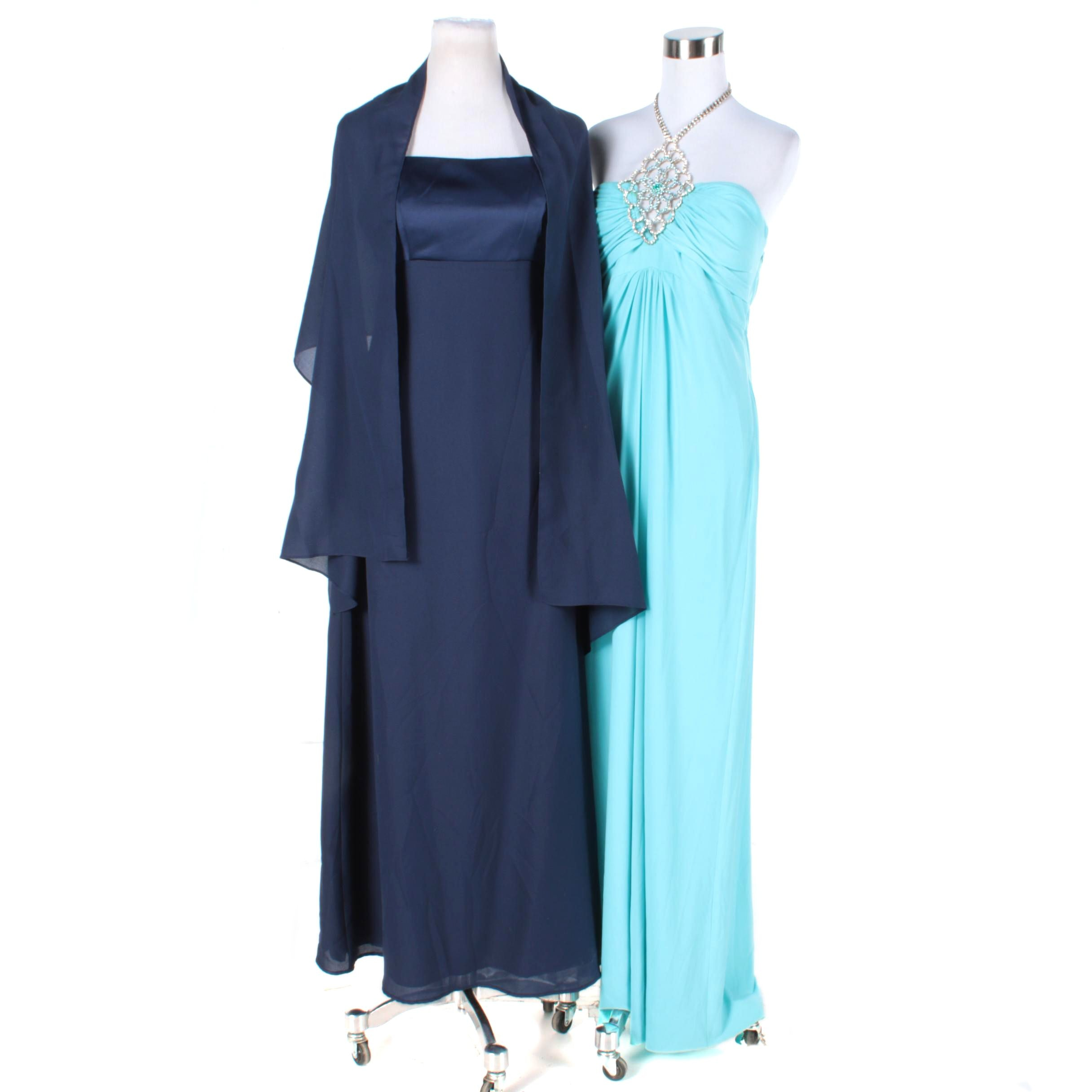 Women's Sleeveless Evening Dresses, Including Mary L Couture