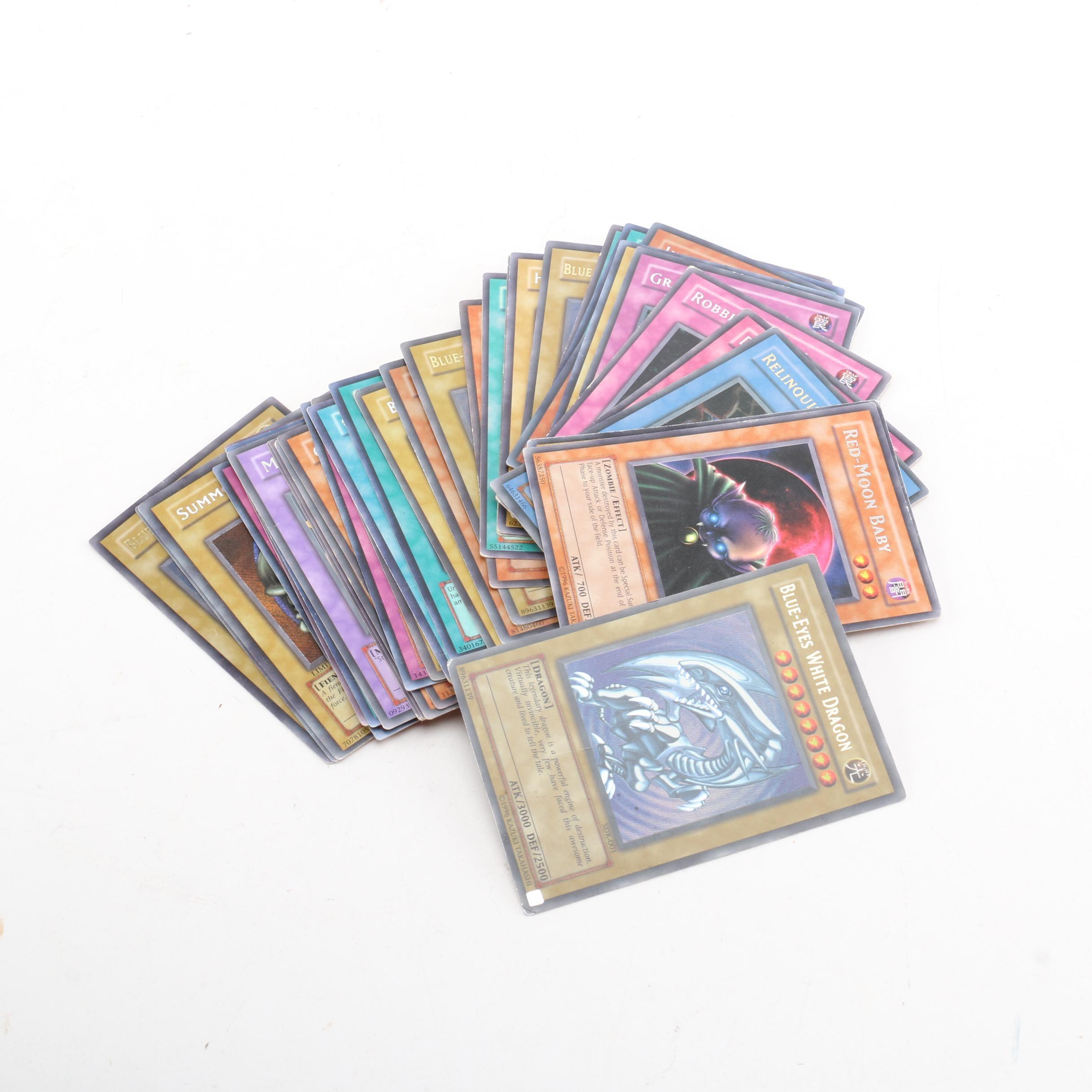 "Yu-Gi-Oh Trading Cards Including ""Blue-Eyes White Dragon"""
