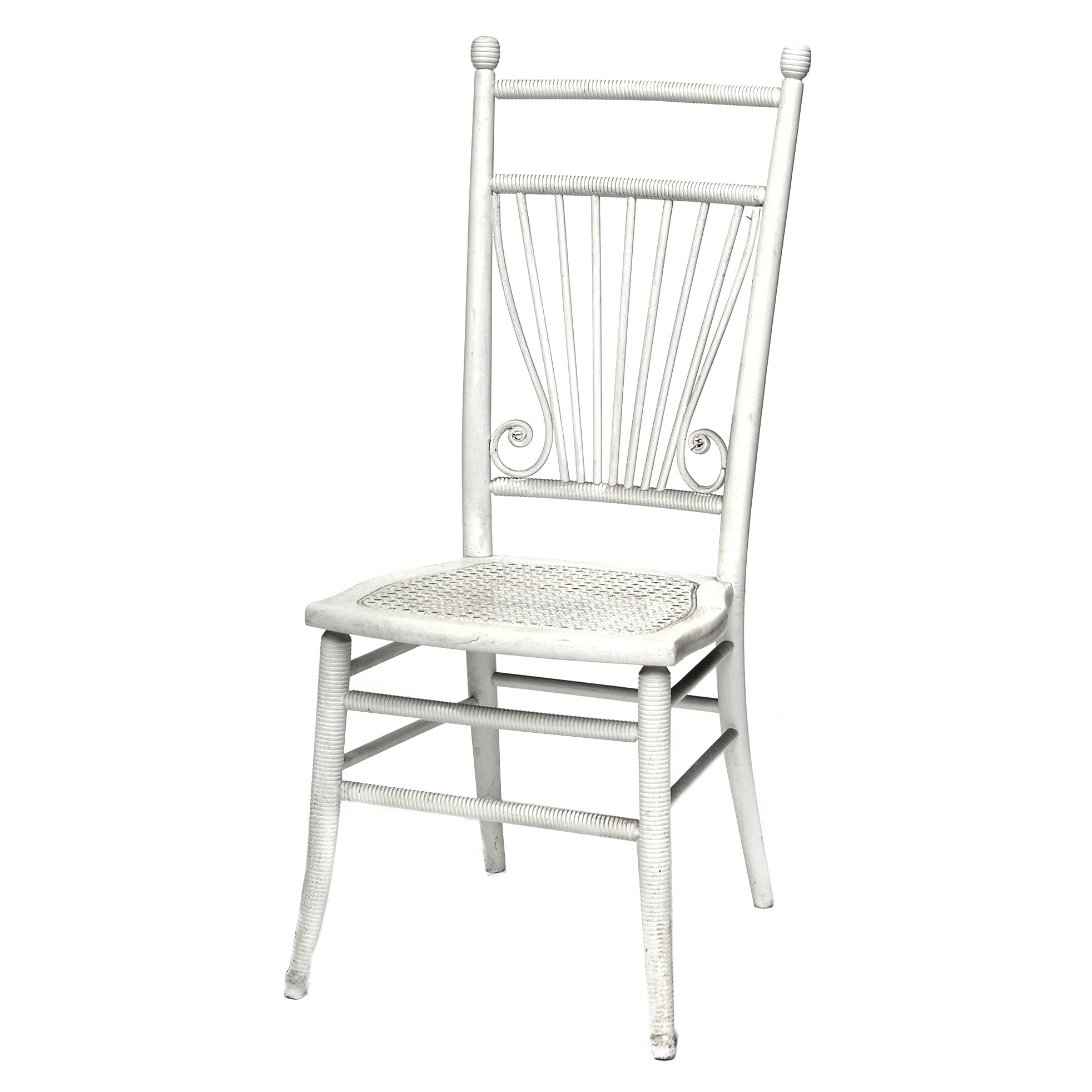 Victorian White Painted Side Chair