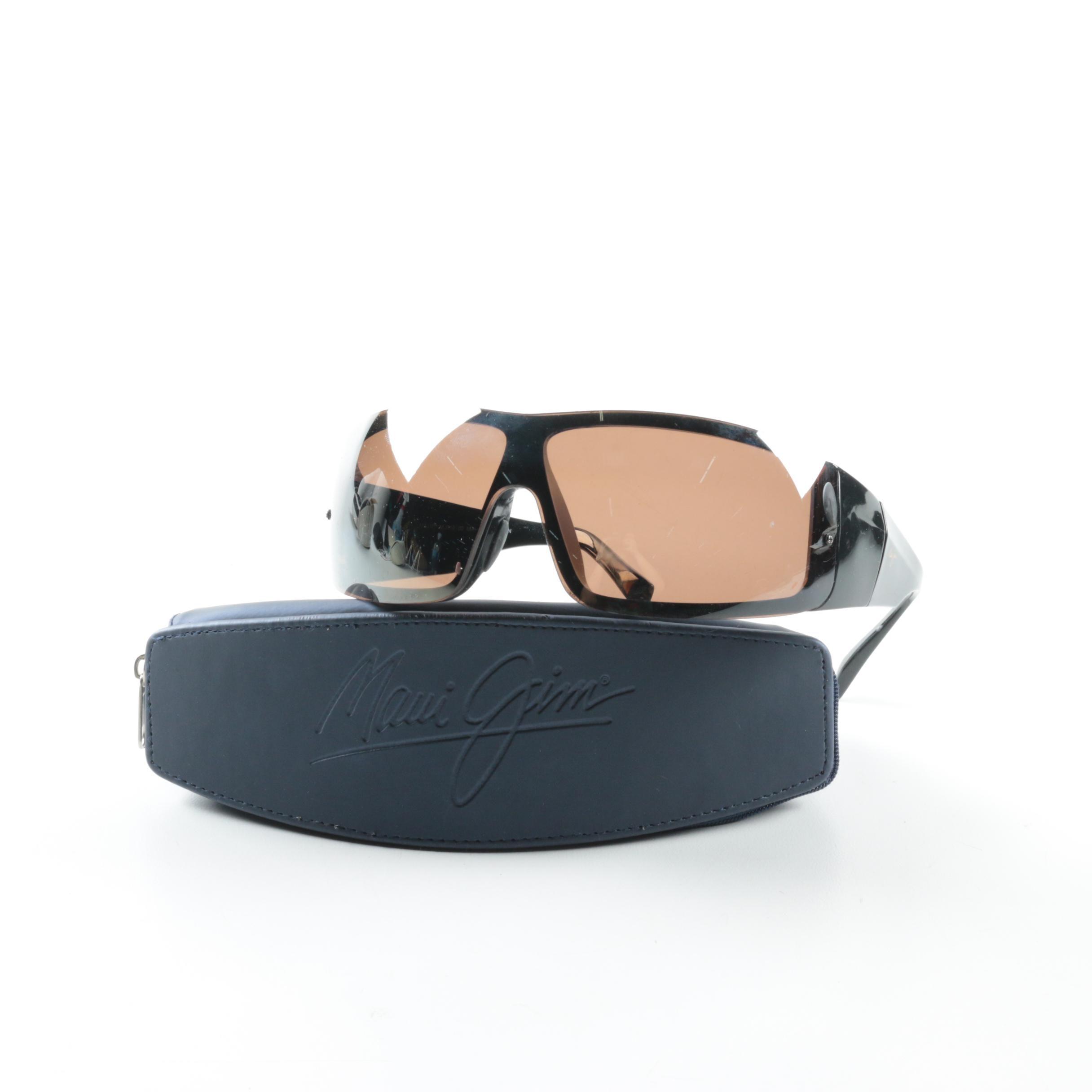 Maui Jim MJ512-02 Wrap Sunglasses with Case