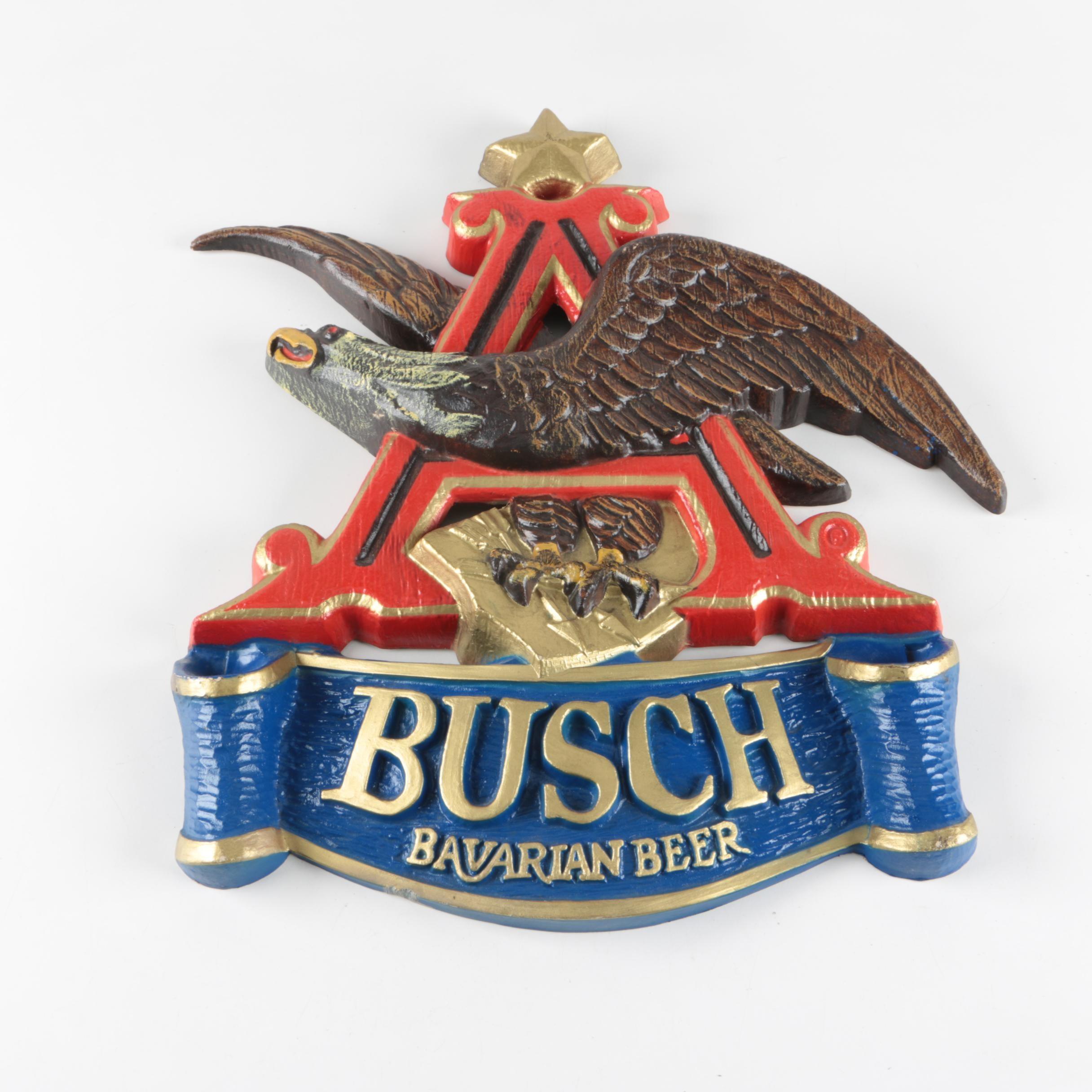 Busch Bavarian Beer Sign
