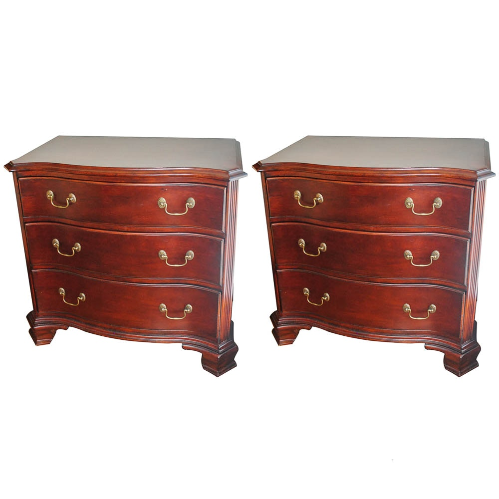 Queen Anne Style Nightstands by Bassett
