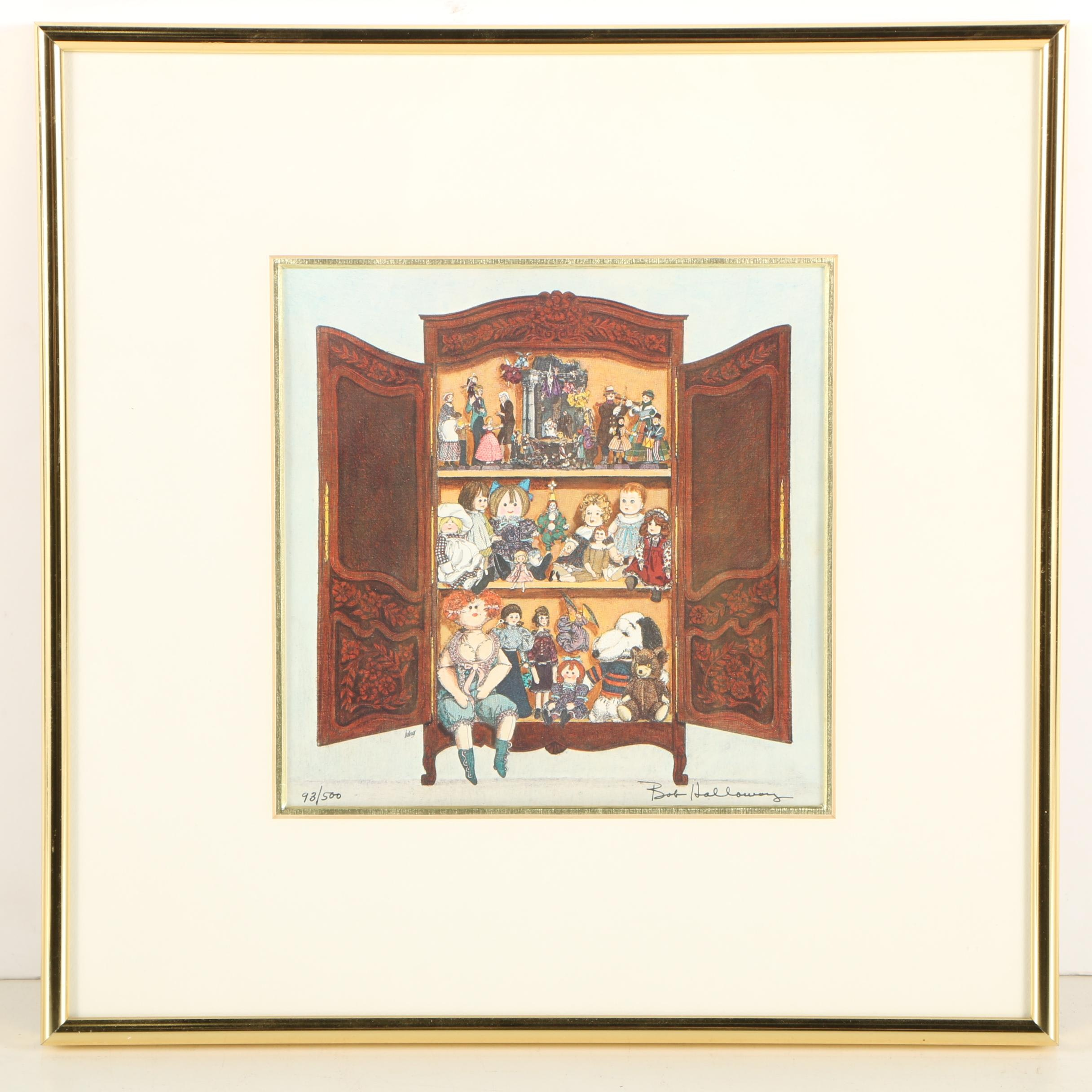 """Bob Holloway Limited Edition Offset Lithograph """"Armoire"""""""