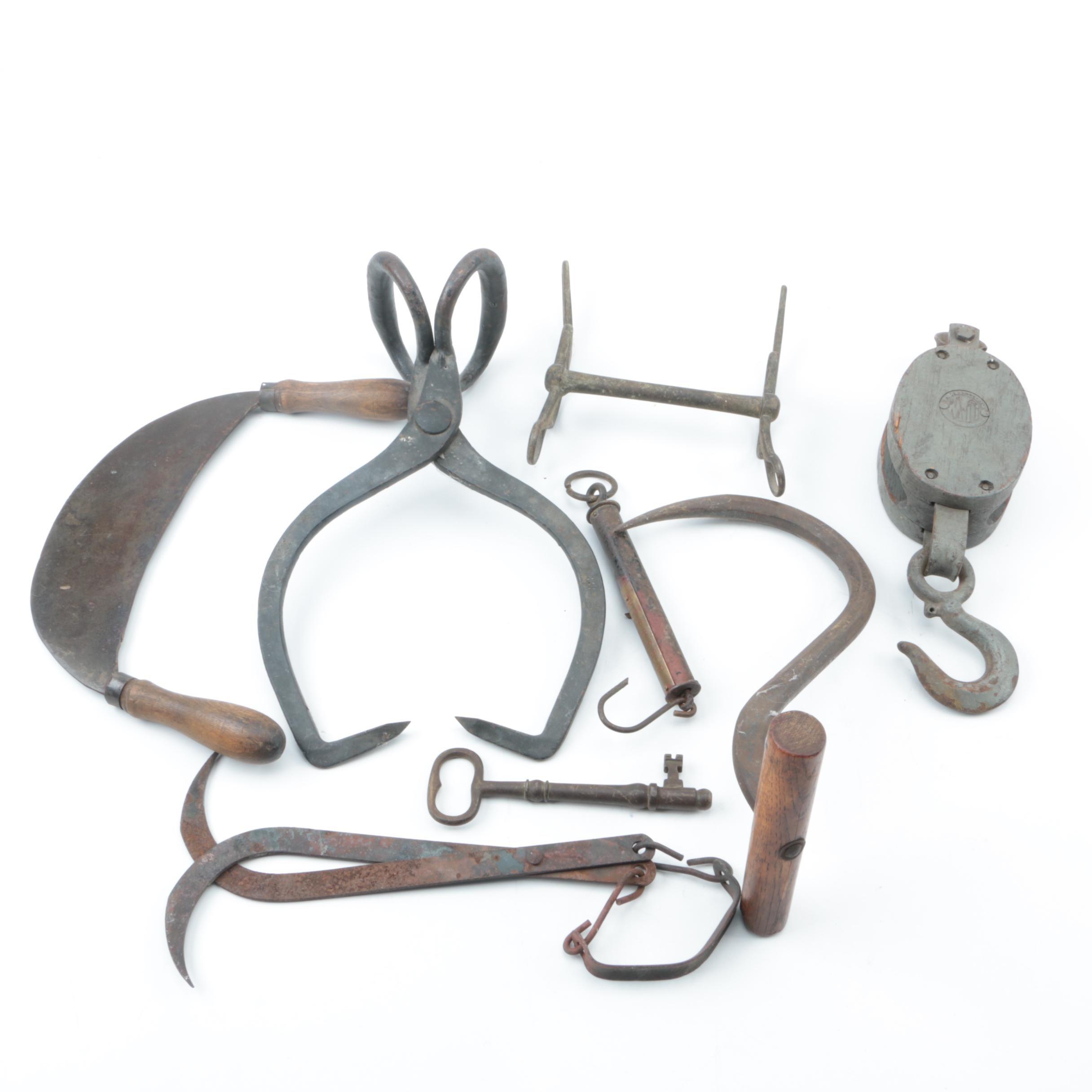 Vintage Metal Field Tools