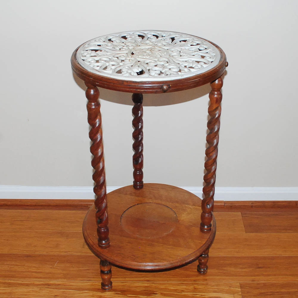Metal Top Plant Stand