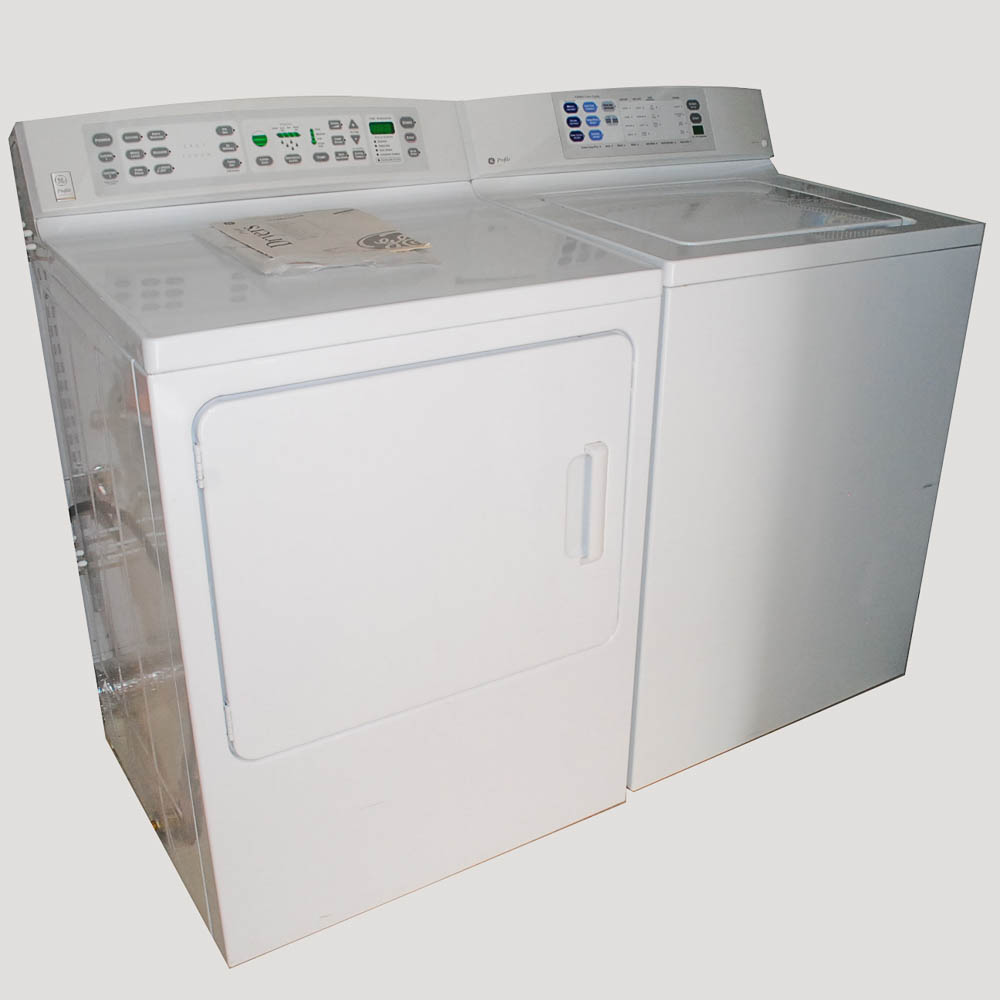 GE Profile Washer and Dryer Set EBTH