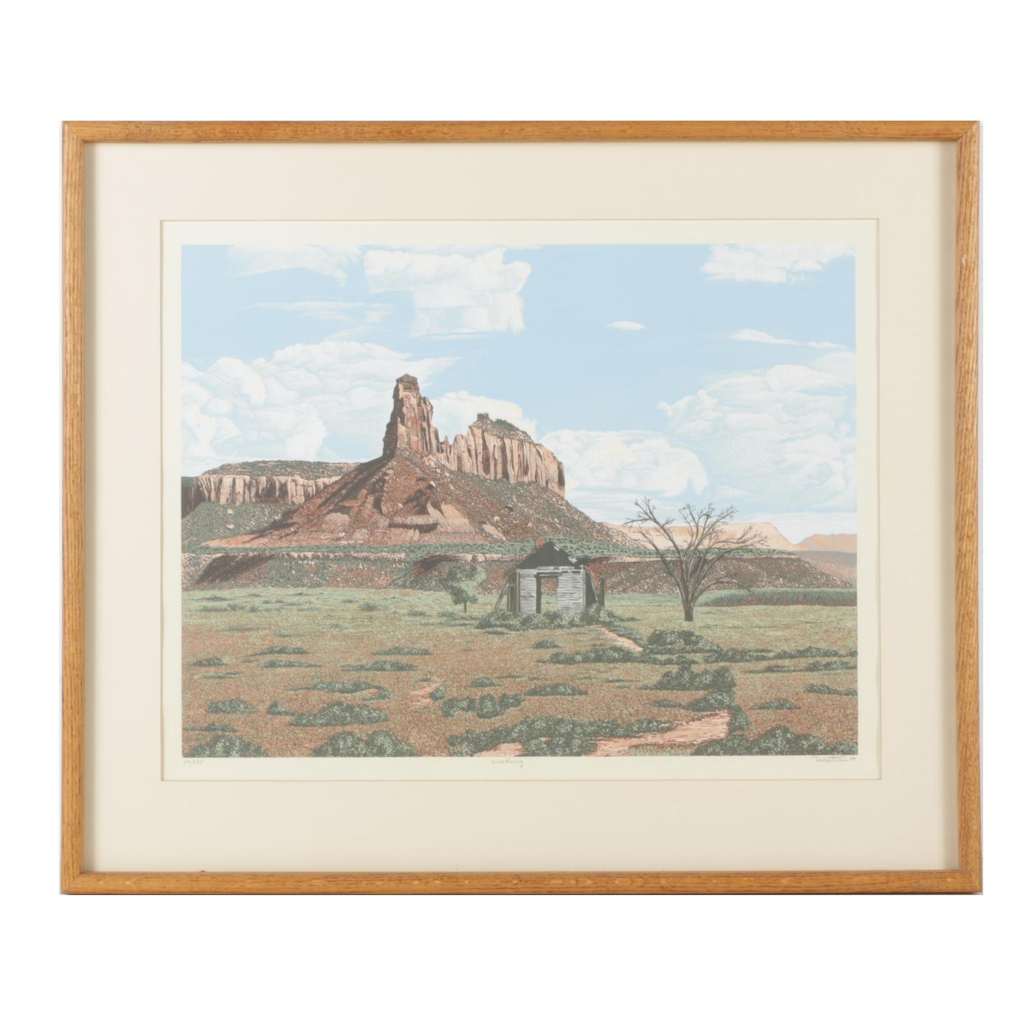 "Dallas E. John Limited Edition Serigraph ""Weathering"""