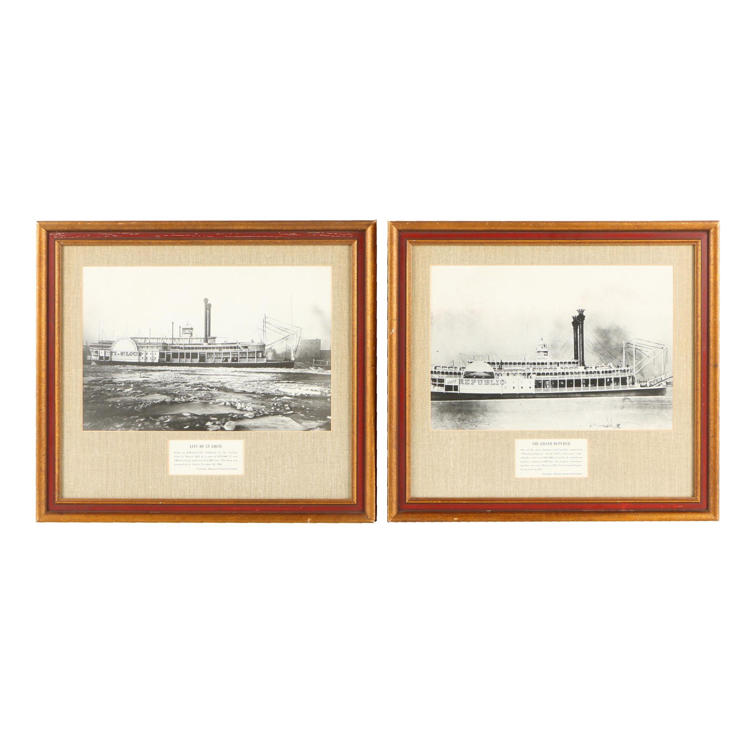 Gelatin Silver Photographs of Ships