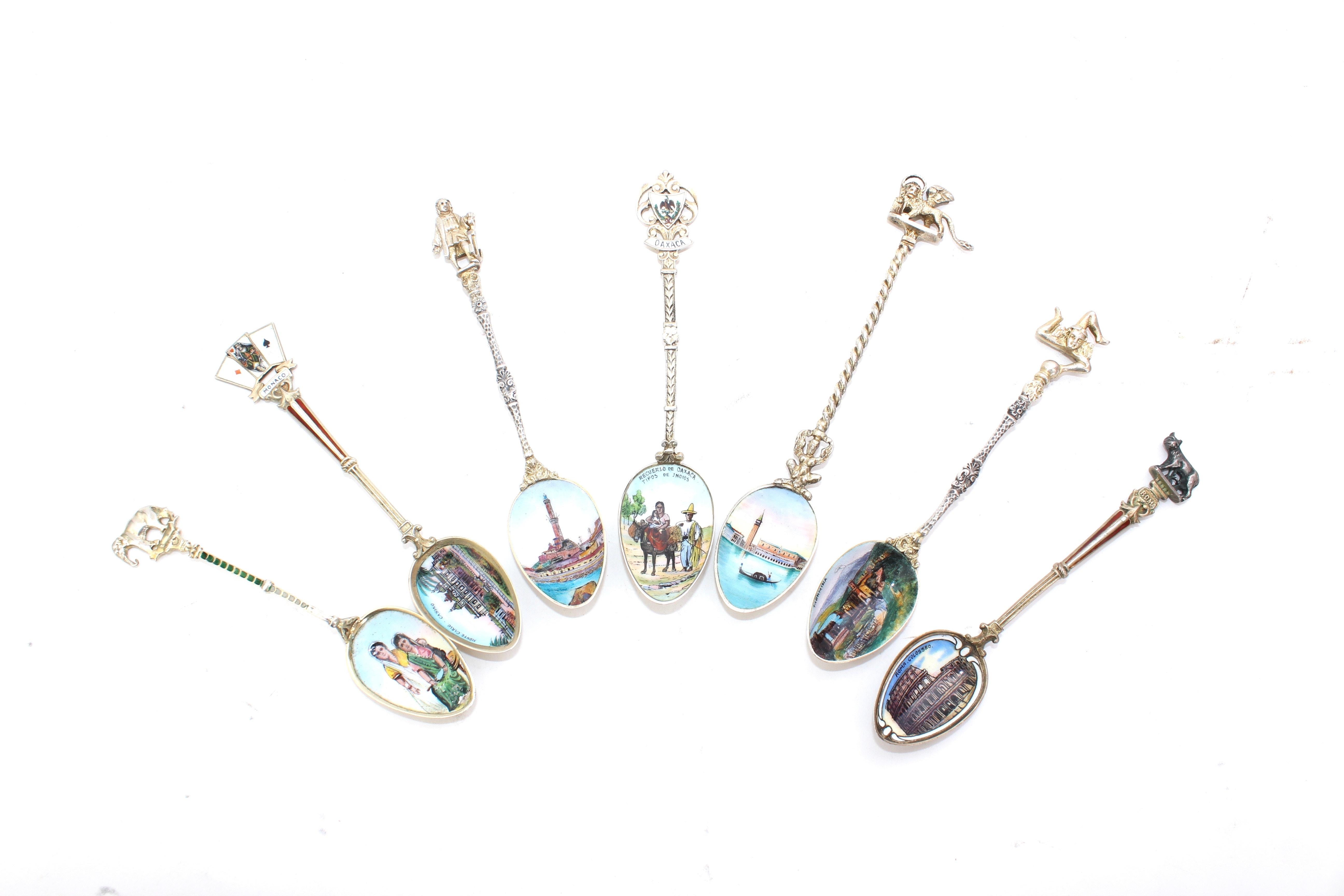 800 Coin Silver Souvenir Spoons