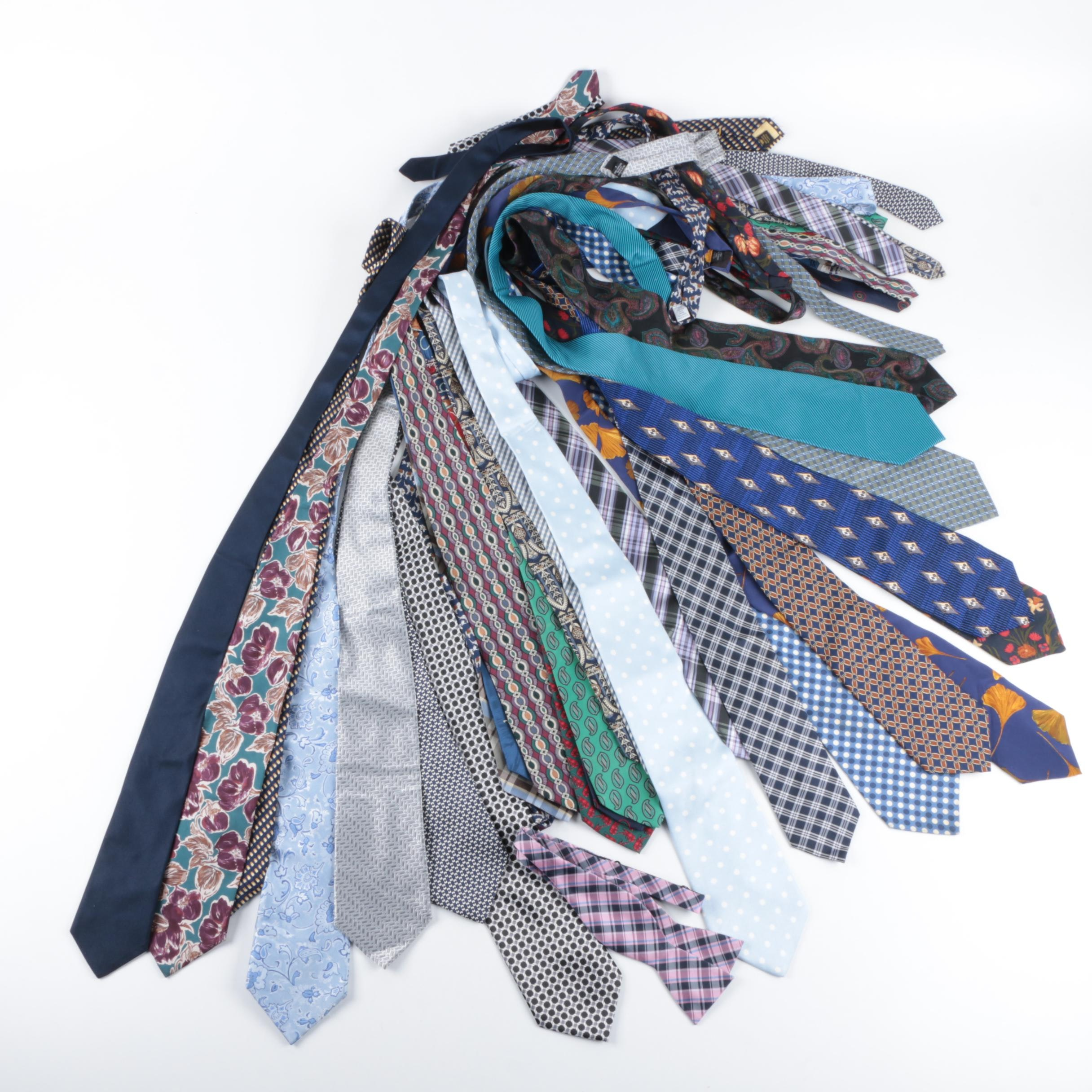 Neckties Including Izod, Brooks Brothers, J. Crew, Lord & Taylor, Geoffrey Beene