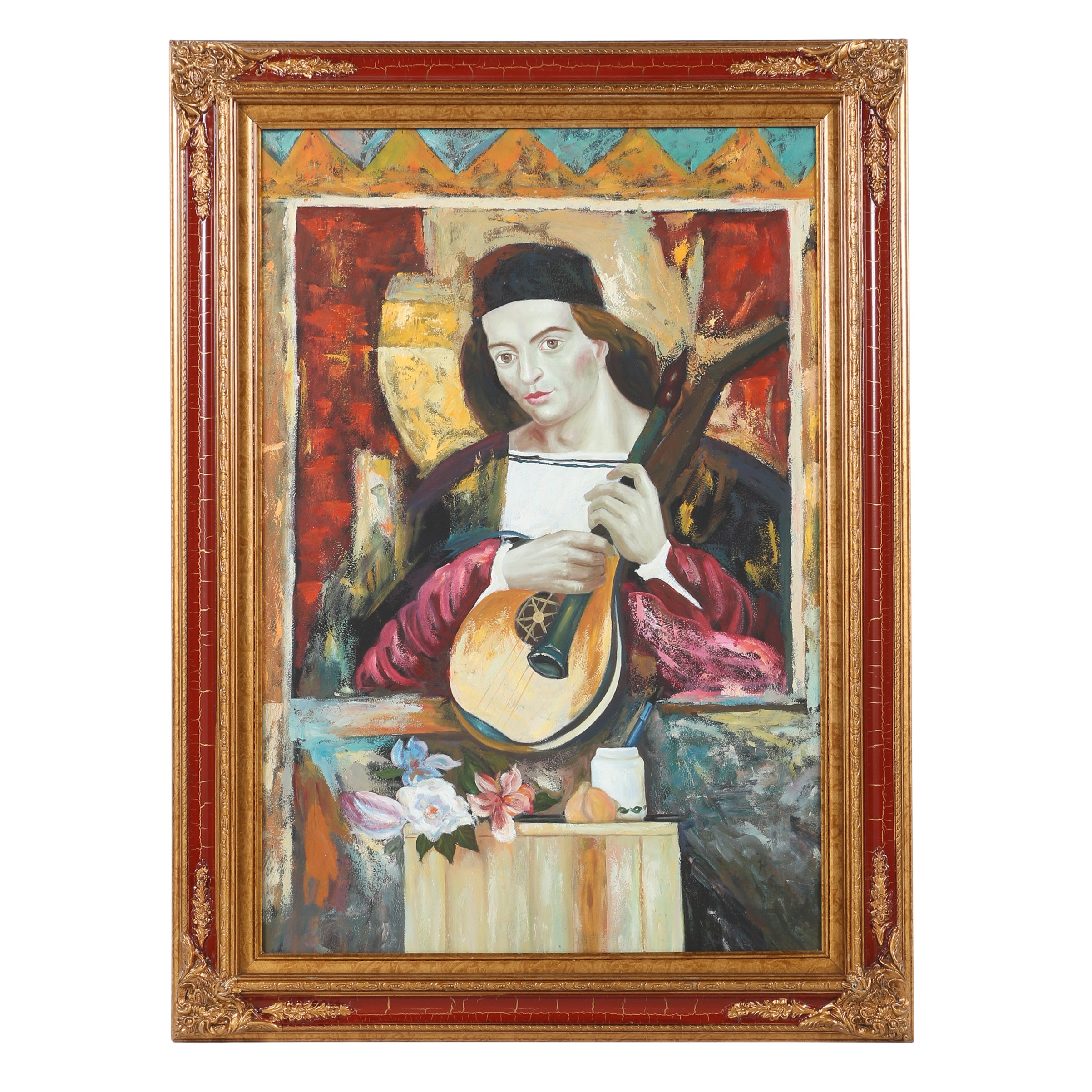 Contemporary Oil Painting of Lutist