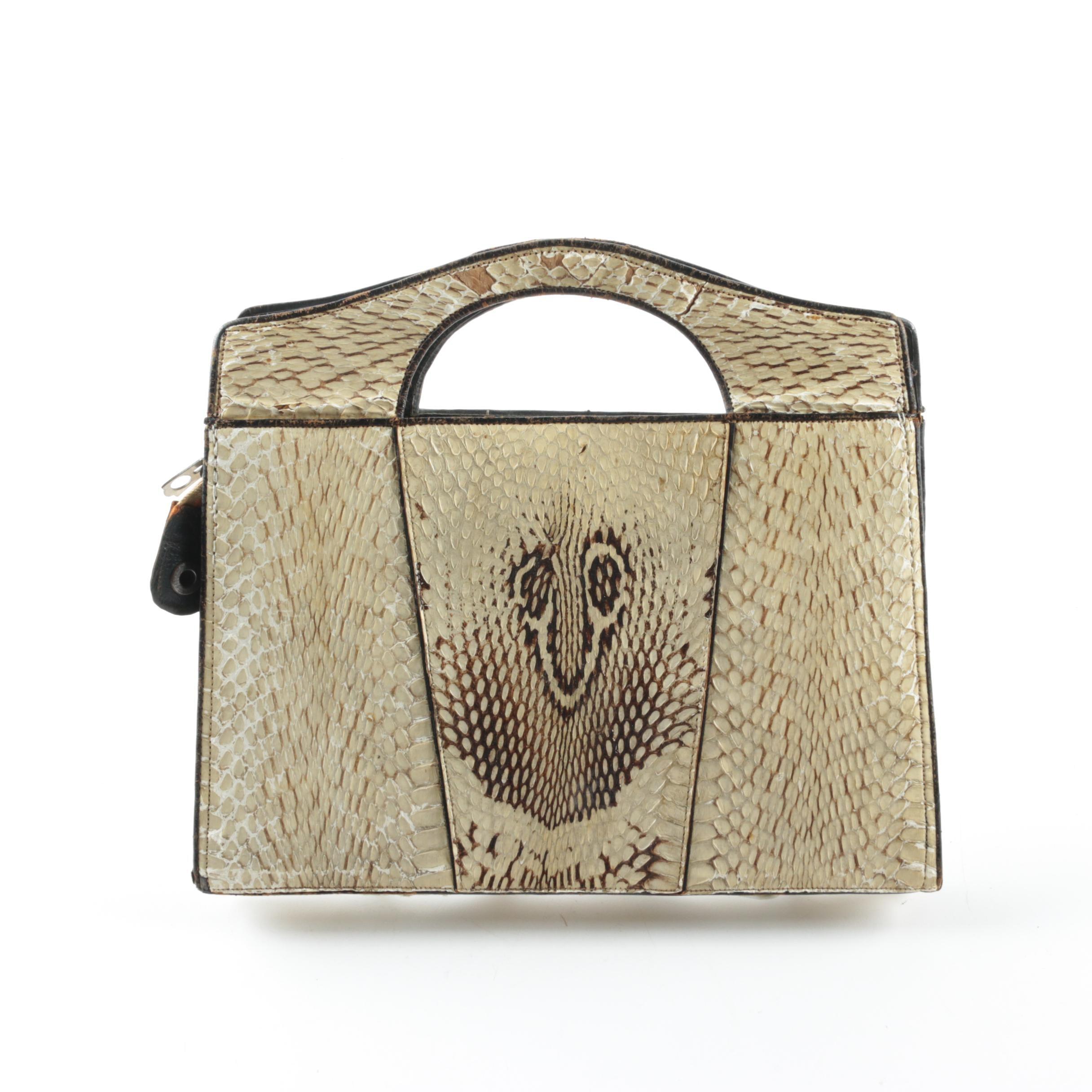 Vintage Cobra Skin Handbag