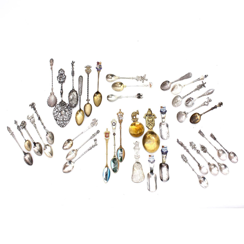 Plated Silver Souvenir Spoons