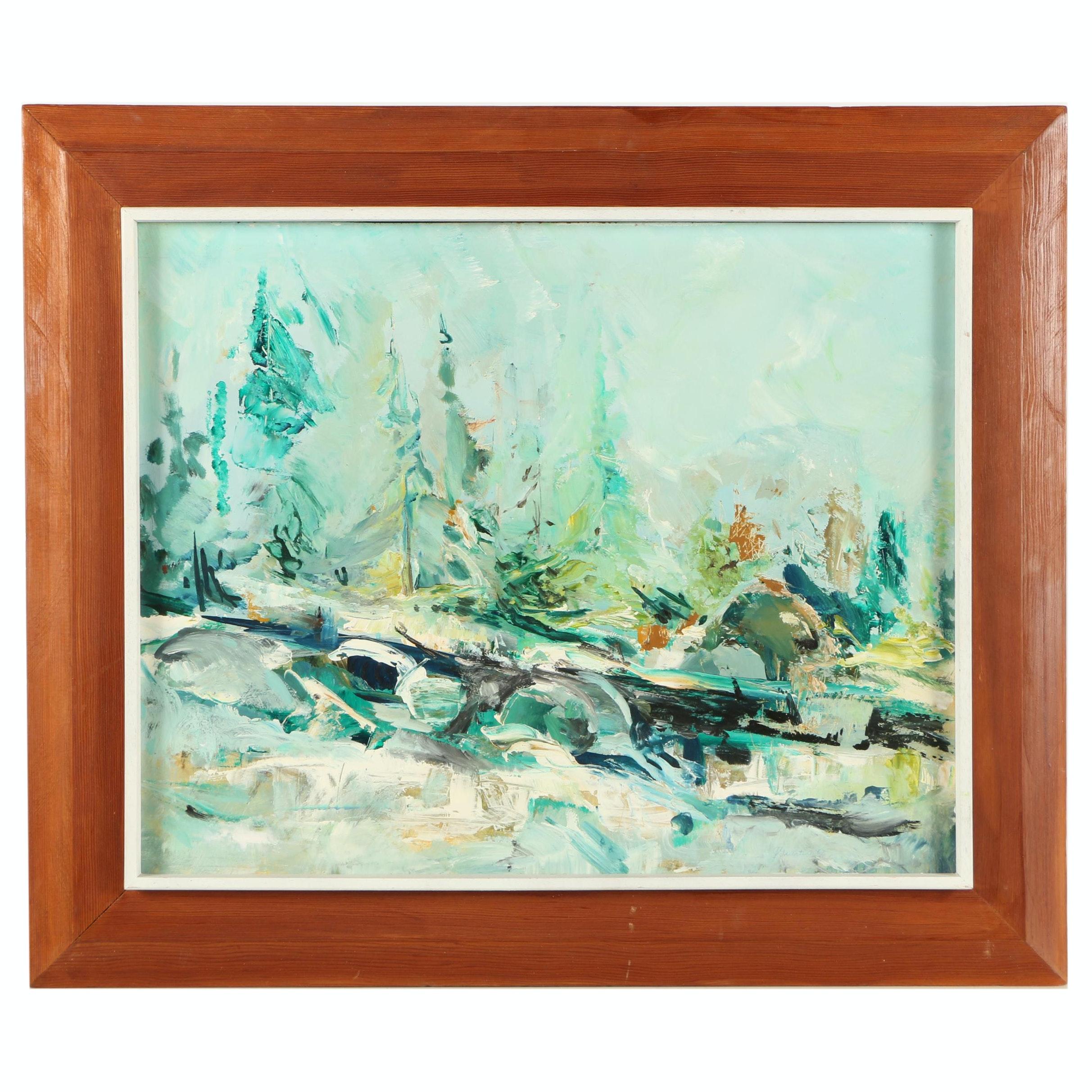 J. Guertin Landscape Oil Painting