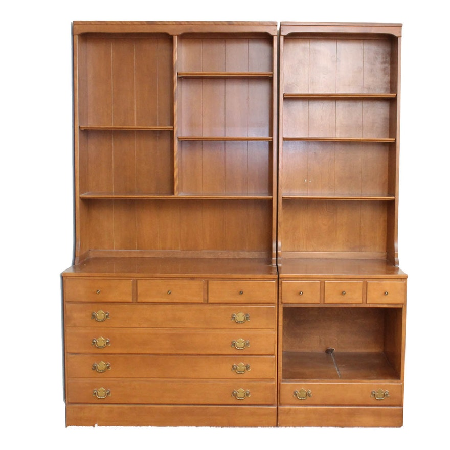 Vintage Ethan Allen by Baumritter Cherry Wall Units : EBTH