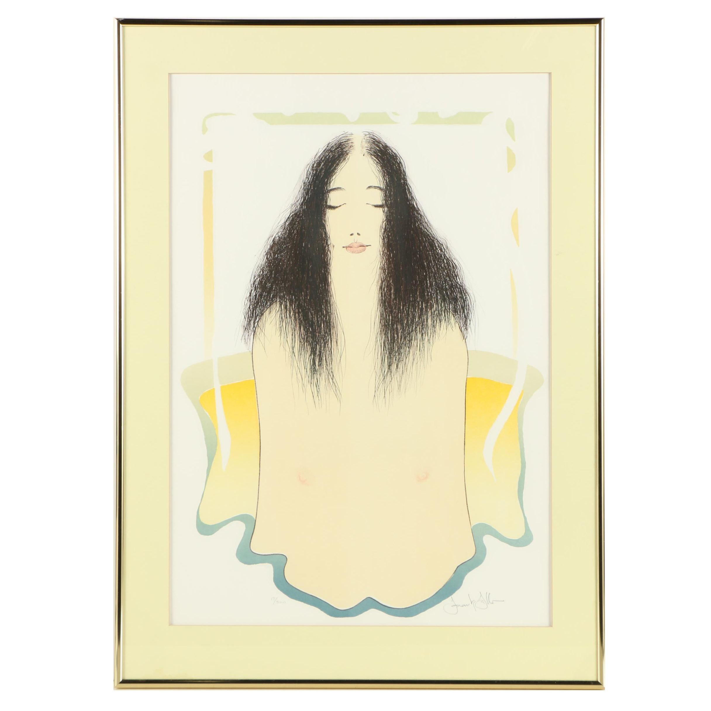 """Frank Gallo Limited Edition Lithograph """"Girl in My Bath"""""""