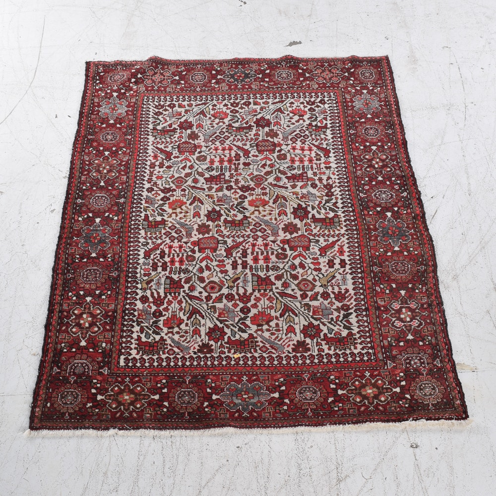 Hand-Knotted Pictorial Anatolian Wool Area Rug