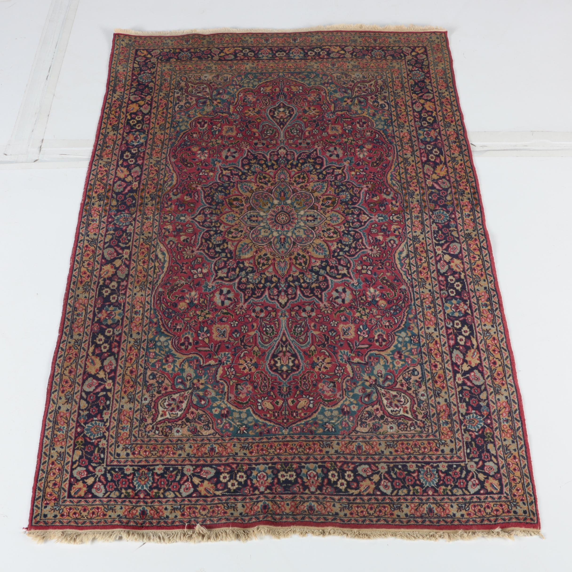 Finely Hand-Knotted Persian Tabriz Wool Area Rug