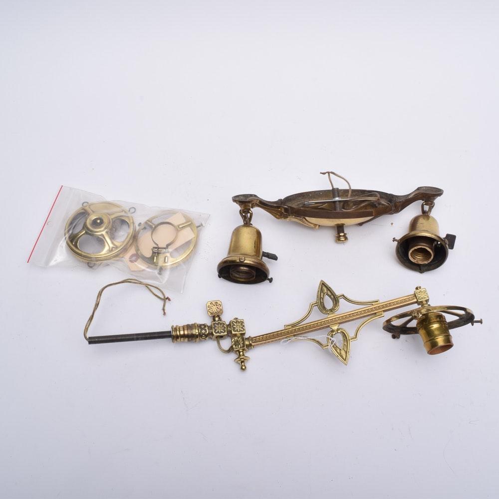 Antique Brass Lamp Parts