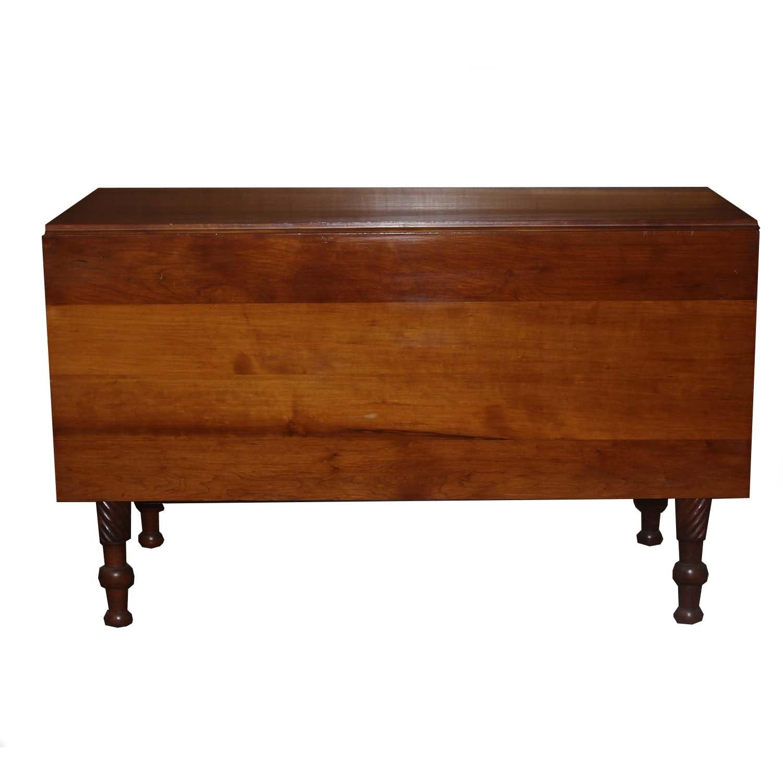 Antique Cherry Wood Drop Leaf Table