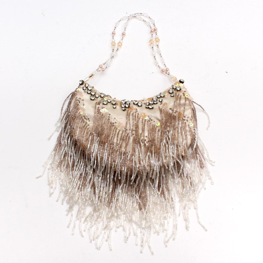 912ef7a1b9 Sasha Handmade Beaded and Fringed Evening Bag   EBTH