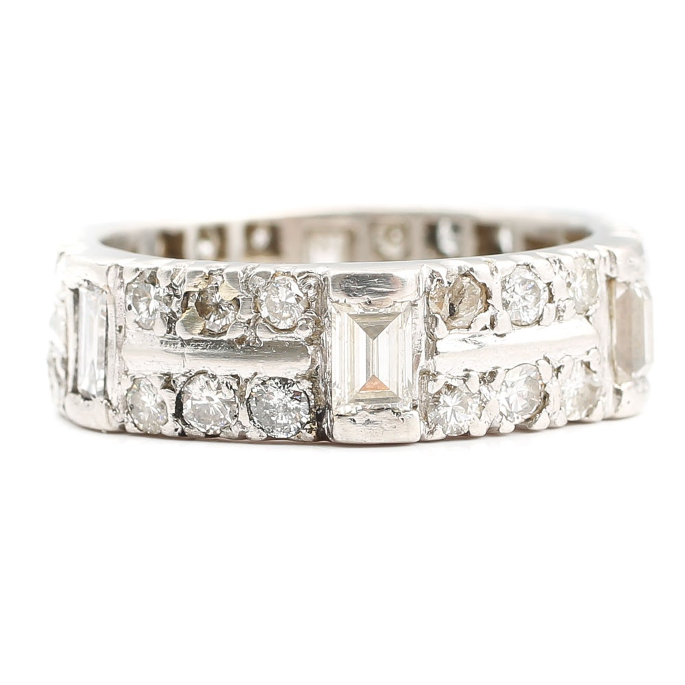 Platinum 1.86 CTW Diamond Eternity Band