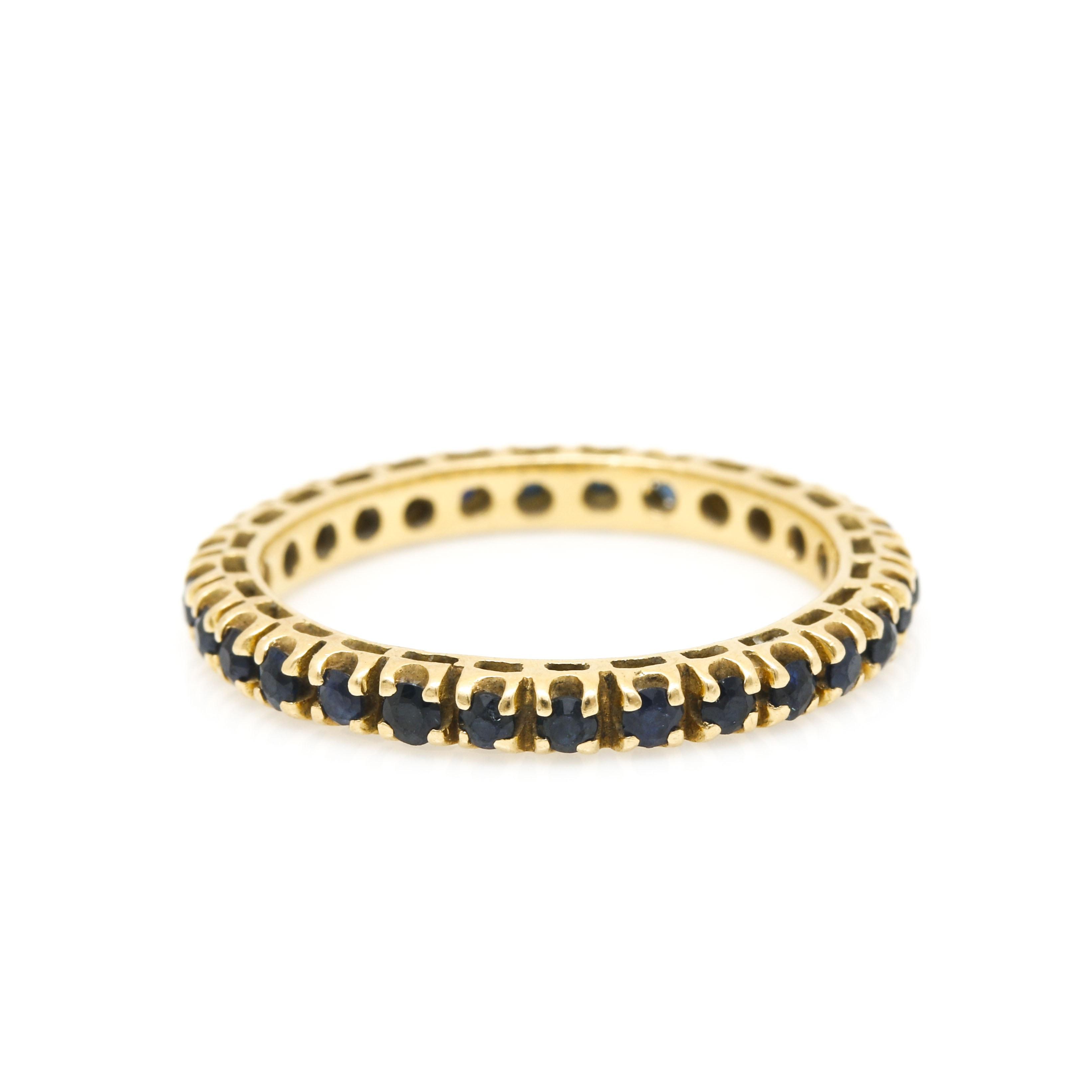 18K Yellow Gold Sapphire Eternity Ring