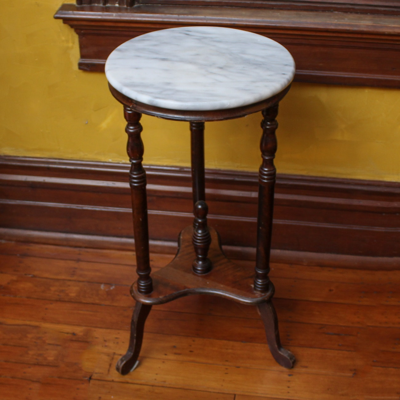 Marble Top Pedestal Table