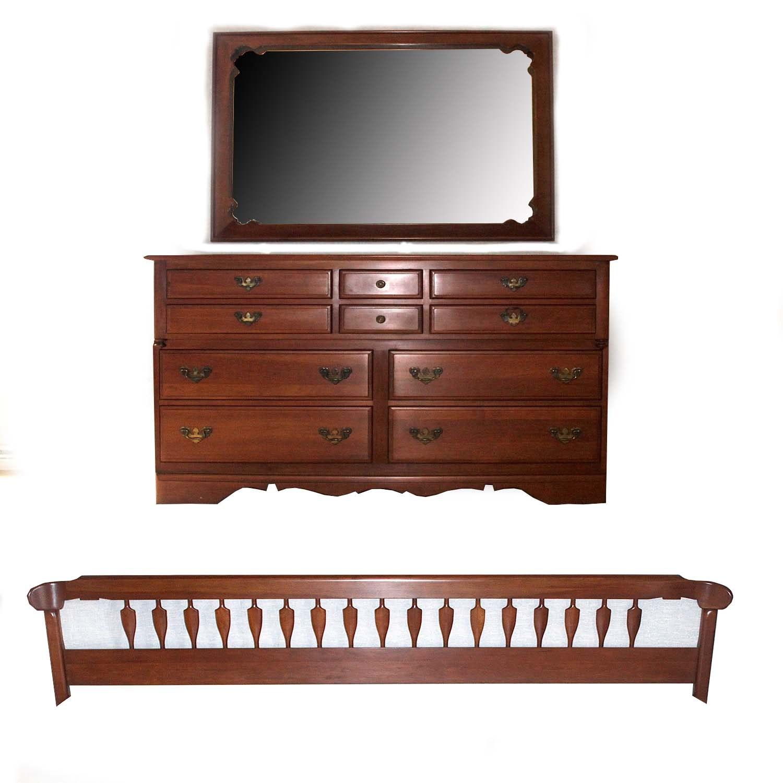 Buck's County Cherry Provincial Bedroom Furniture Set