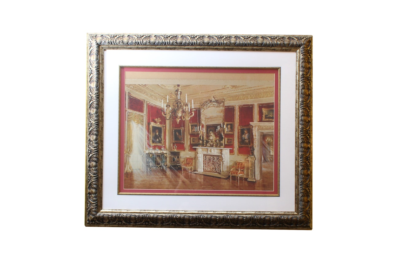 Offset Lithograph after Painting of French Style Interior