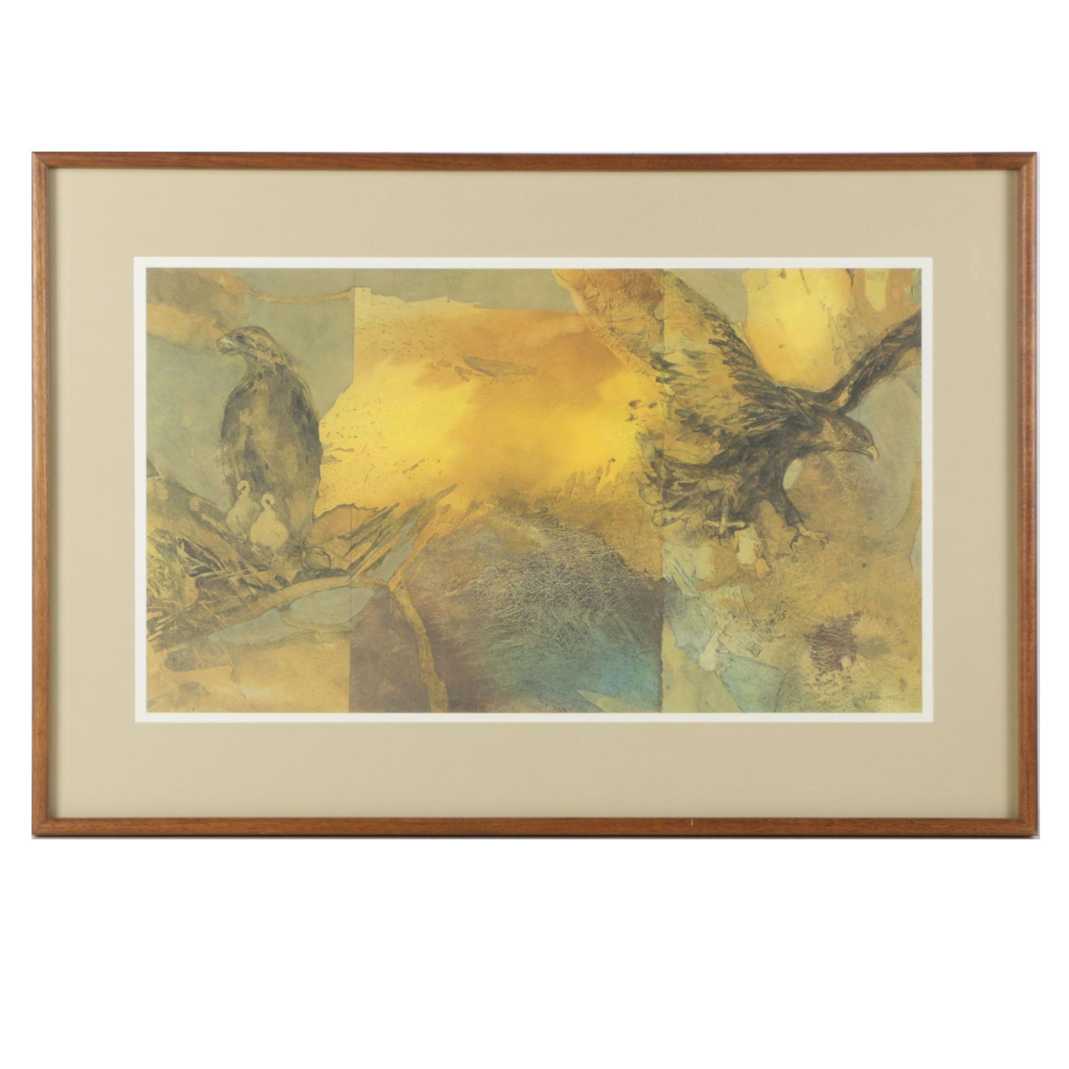 """Sue Wise Limited Edition Offset Lithograph """"Eyrie"""""""