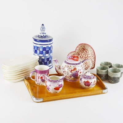 Tea Set and Other China Serveware Collection