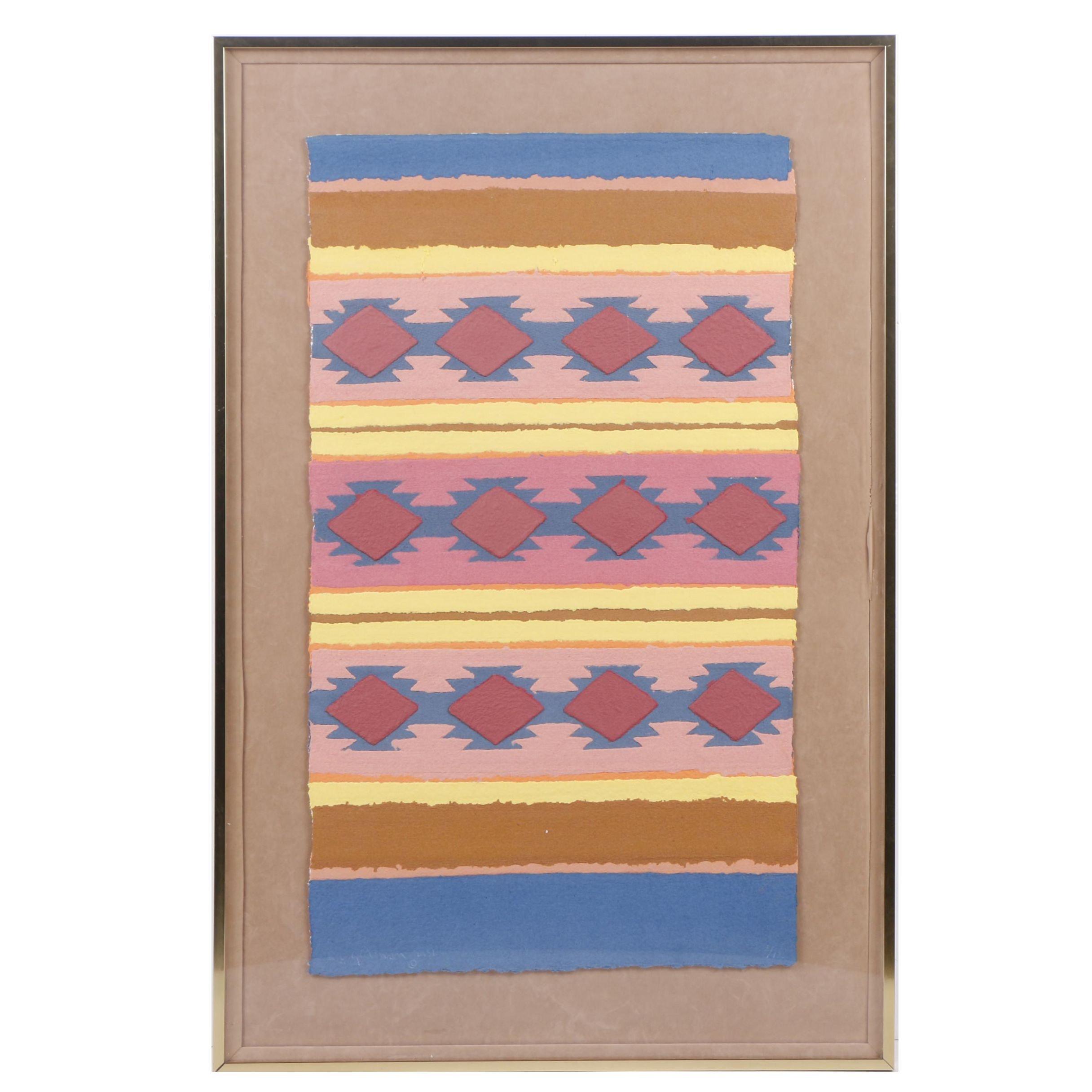 1981 Rudolph Carl Gorman Paper Collage