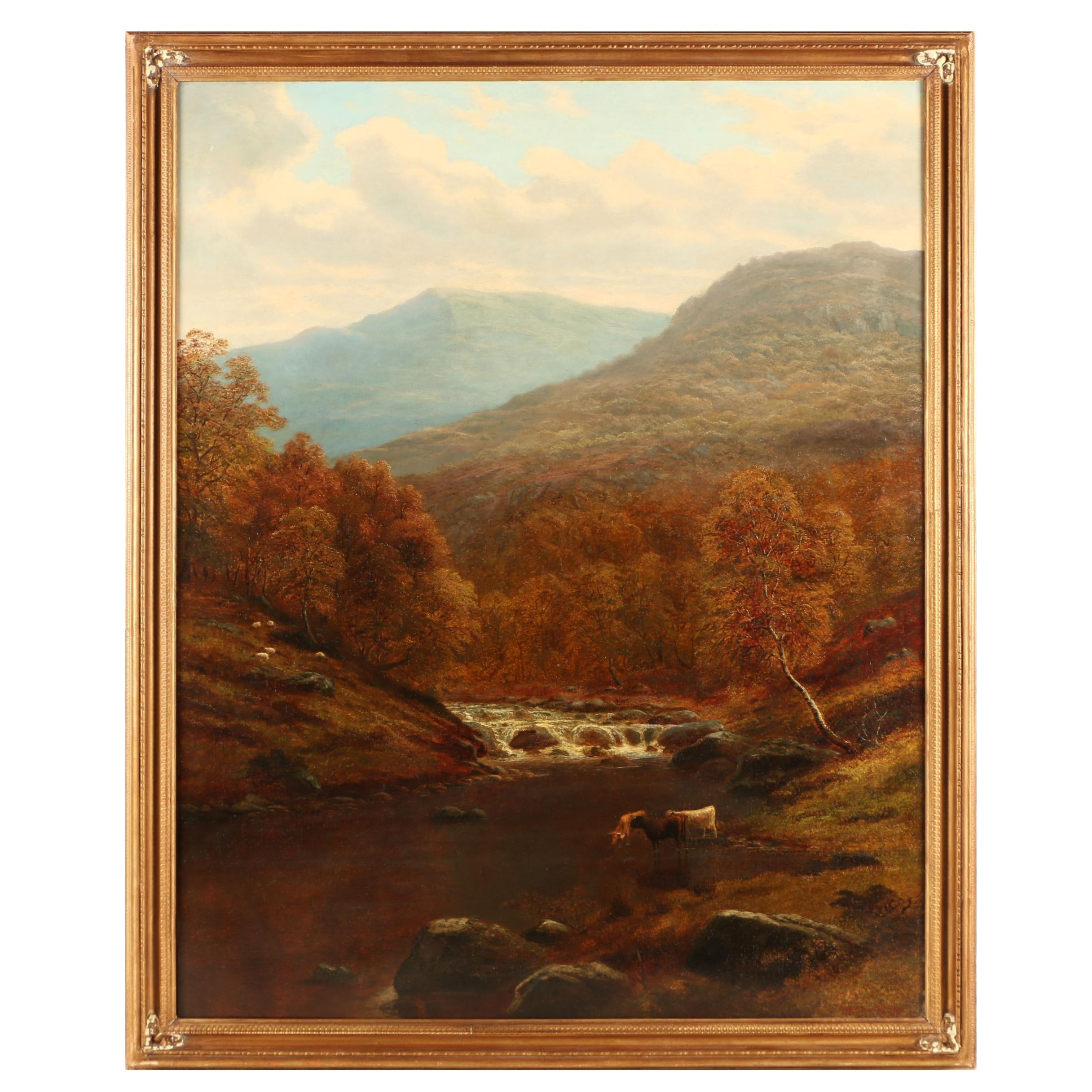 "William Mellor Oil Painting ""On the Lledr, North Wales"""