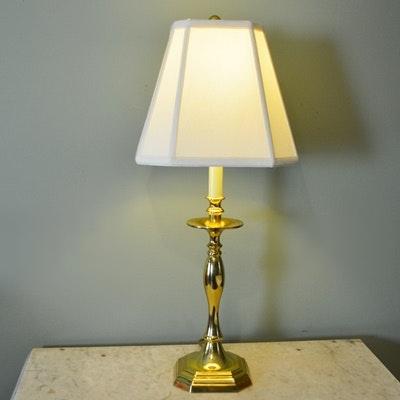 Baldwin Brass Candlestick Table Lamp Ebth