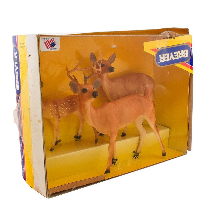 Vintage Breyer Deer Family in Original Box, Circa 1990