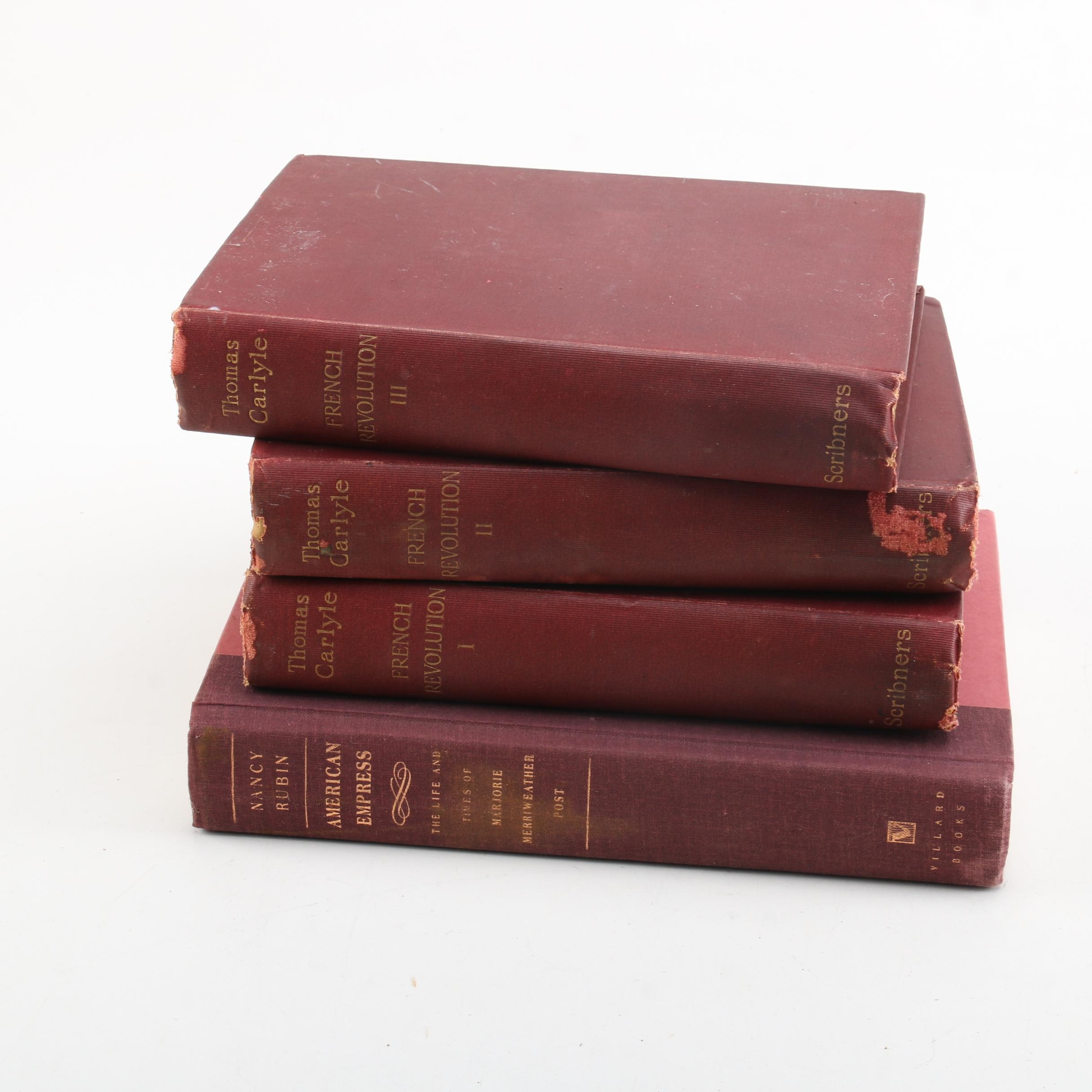 "1896 Set of ""The French Revolution: A History"" by Thomas Carlyle"