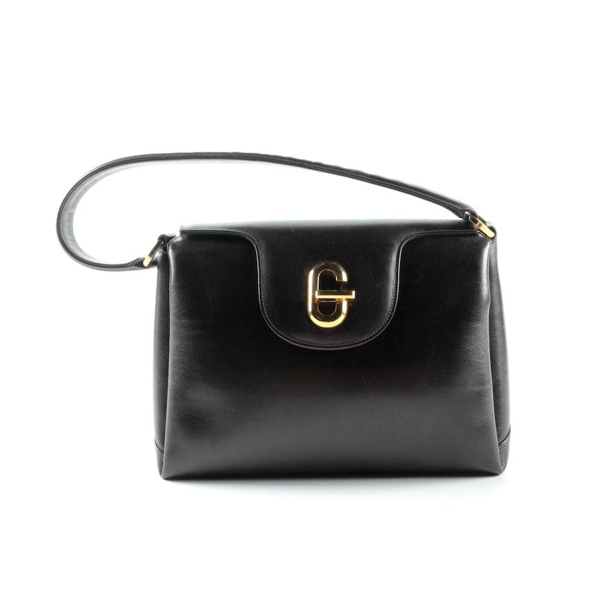 d16c23234ac Vintage Gucci Brown Leather Handbag   EBTH