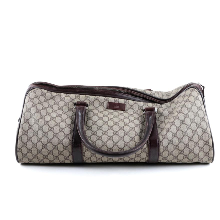 b706f5e5d8cd Gucci Supreme GG Canvas Duffel Bag