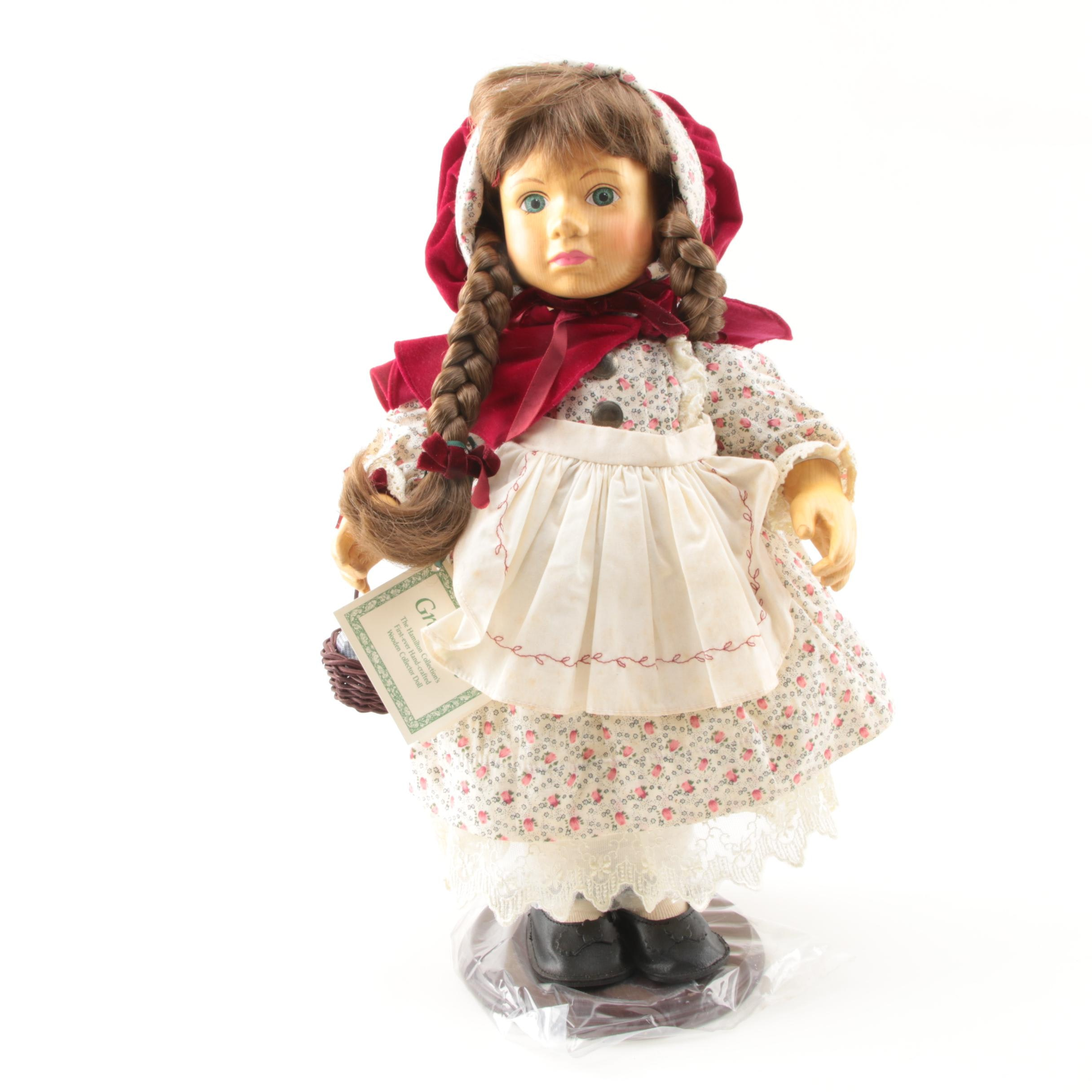 Vintage Limited Edition Hamilton Collection Wood Gretchen Doll