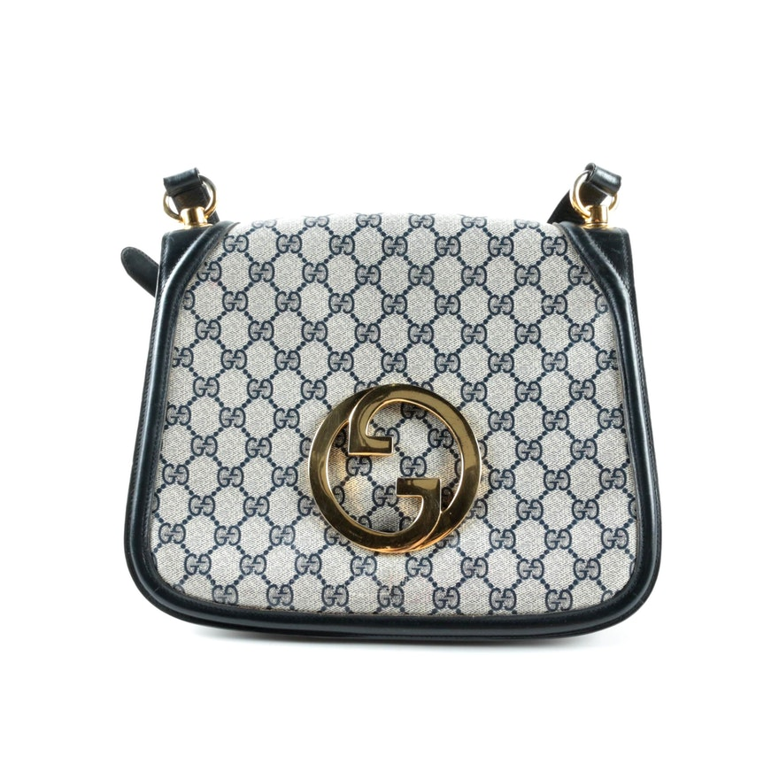 69bf1e04b59 Vintage Gucci GG Supreme Canvas Handbag   EBTH