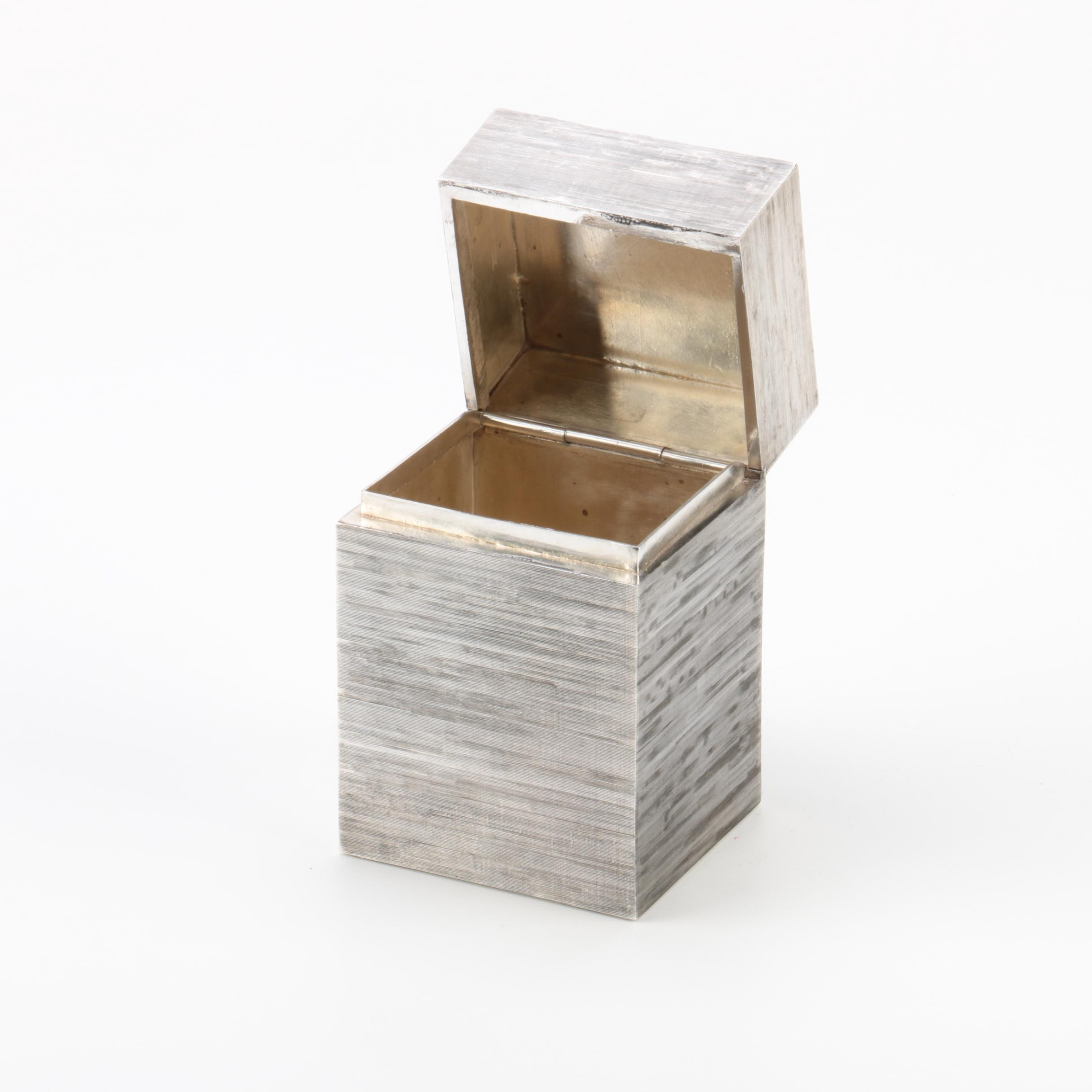 J.N. Jacob Taxco, Mexico 925 Sterling Trinket Box