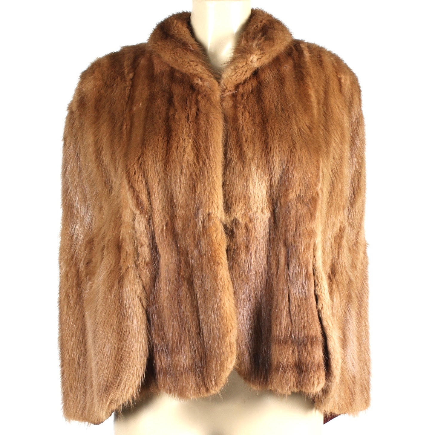 Vintage Dyed Muskrat Fur Cape From Livingston's